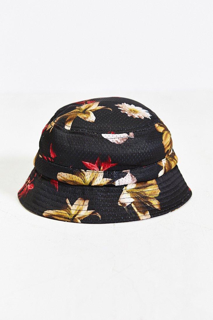 Lyst - Stussy X Uo Floral Mesh Bucket Hat in Black for Men 0ba93222998