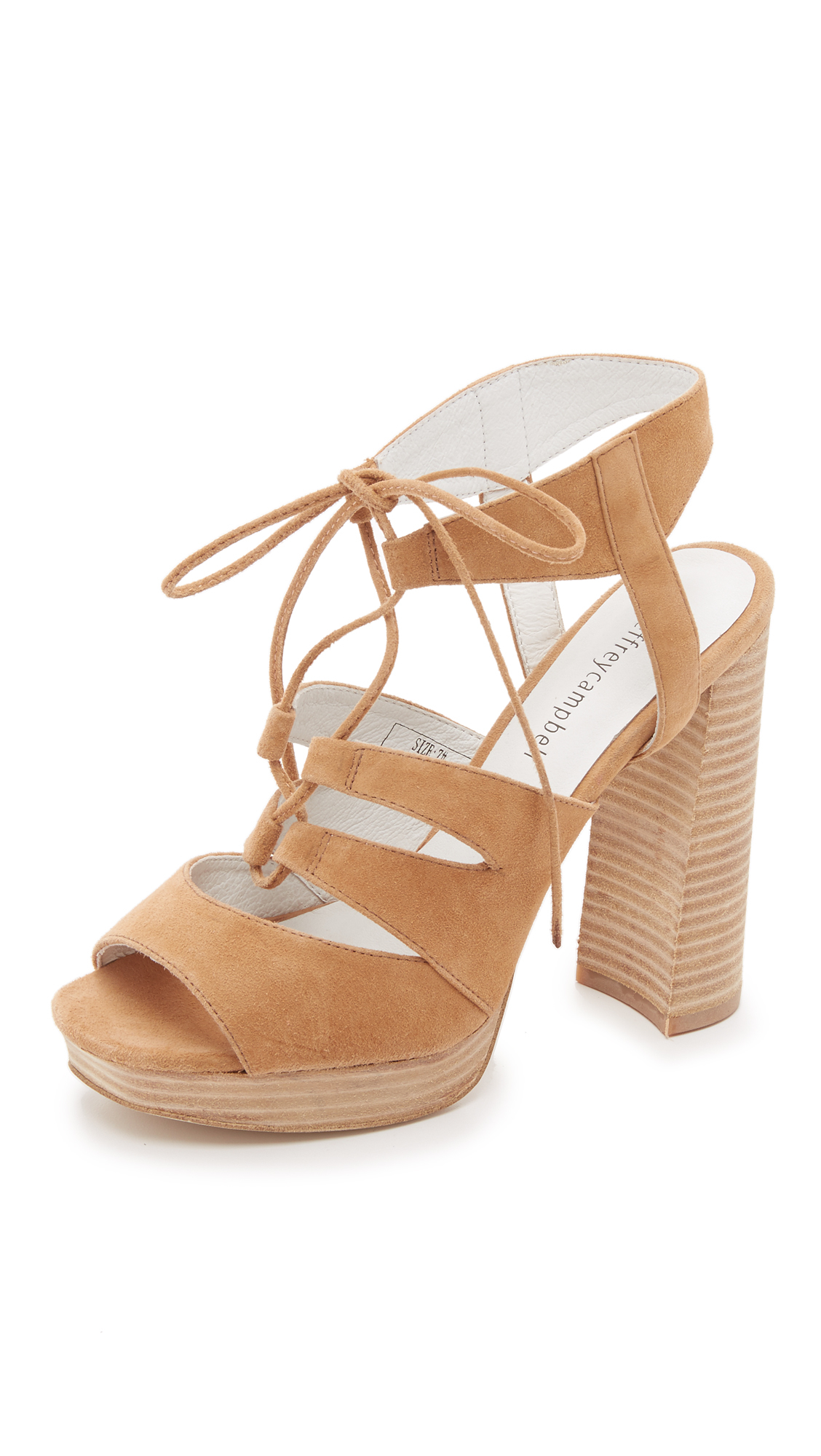 Ibex Suede, Womens Open-Toe Heeled Shoes Jeffrey Campbell