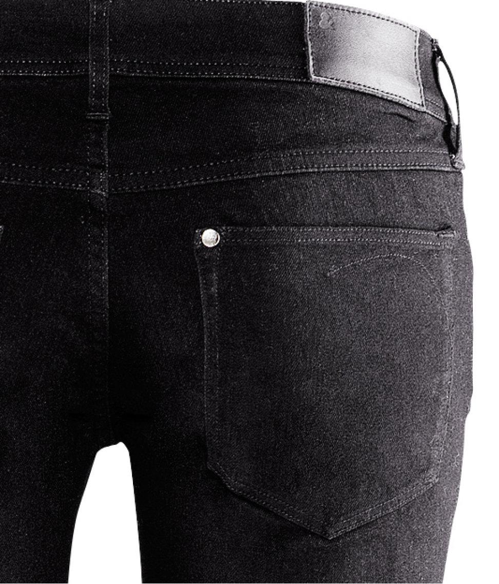 h m super skinny super low jeans in blue black lyst. Black Bedroom Furniture Sets. Home Design Ideas