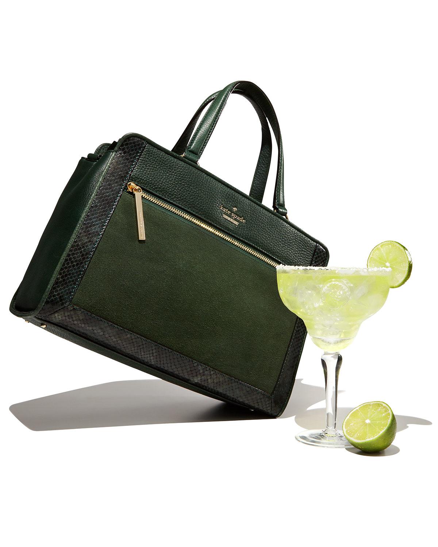 Kate spade new york Chatham Lane Harlan Satchel Bag in Green | Lyst