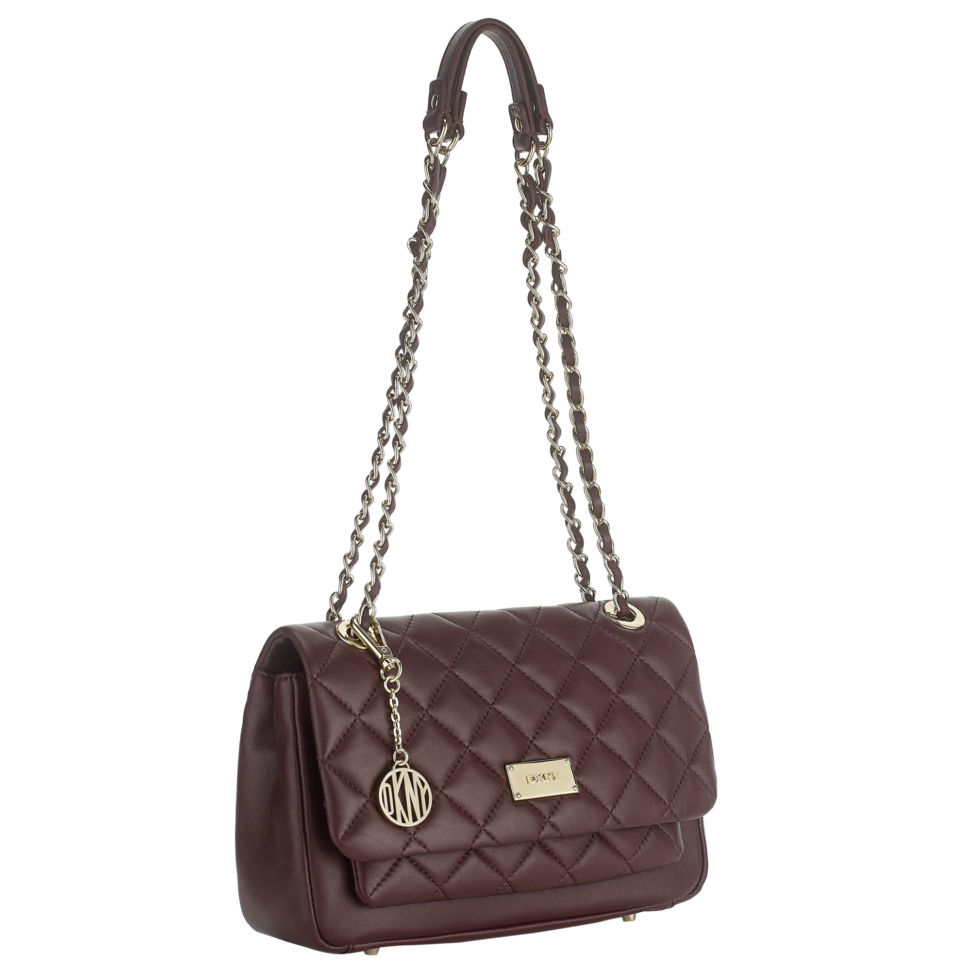 Lyst - Dkny Gansevoort Quilted Chain Shoulder Bag in Purple : dkny quilted shoulder bag - Adamdwight.com