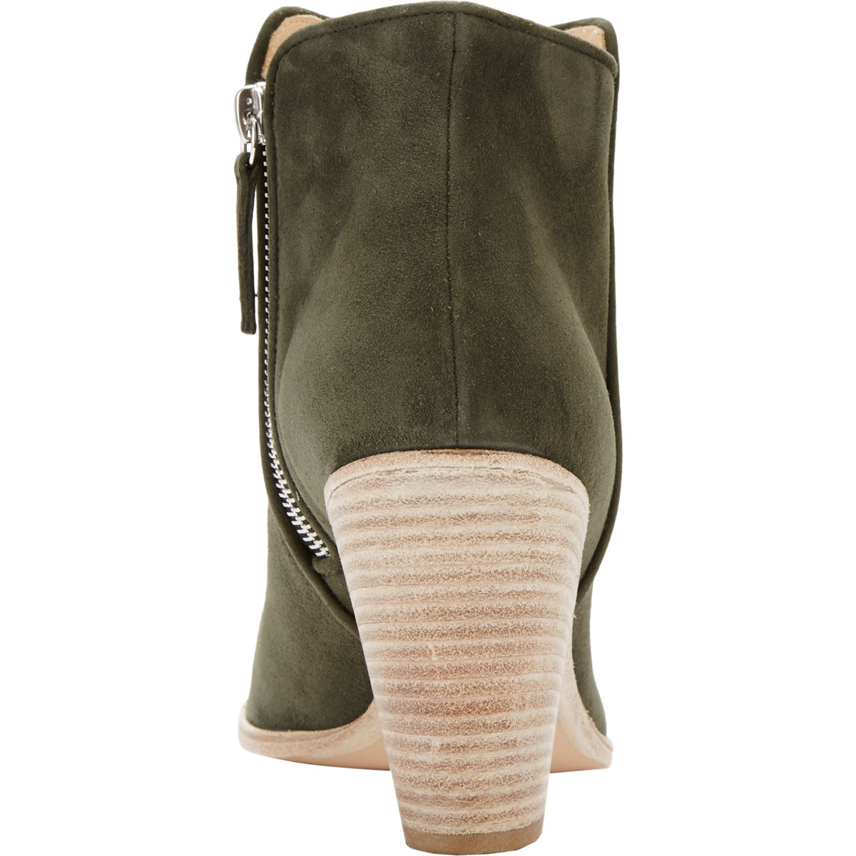 barneys new york bedford ankle boots in green brown lyst