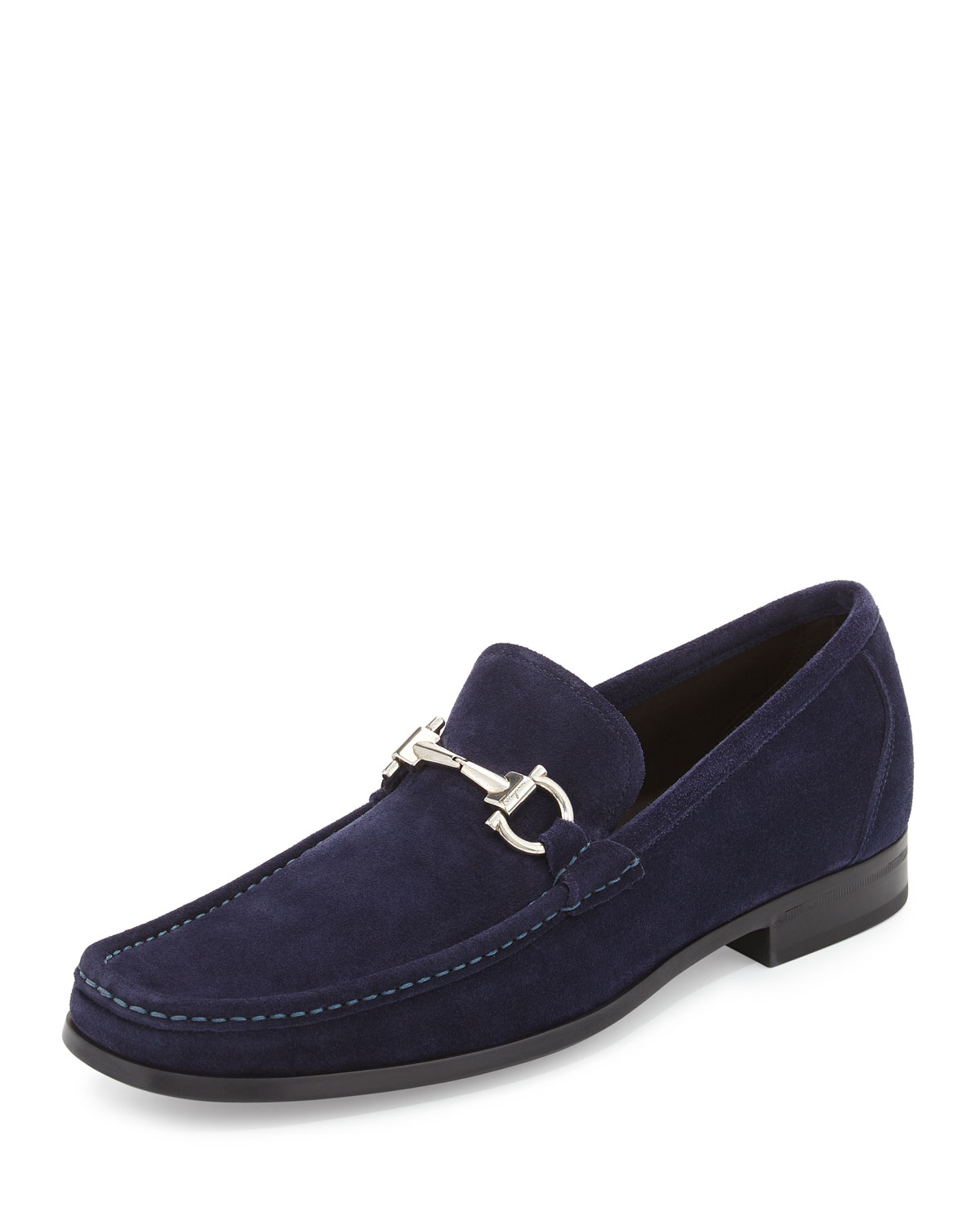 Rubber Rings For Men >> Lyst - Ferragamo Magnifico Suede Gancini Loafer With Rubber Sole in Blue for Men