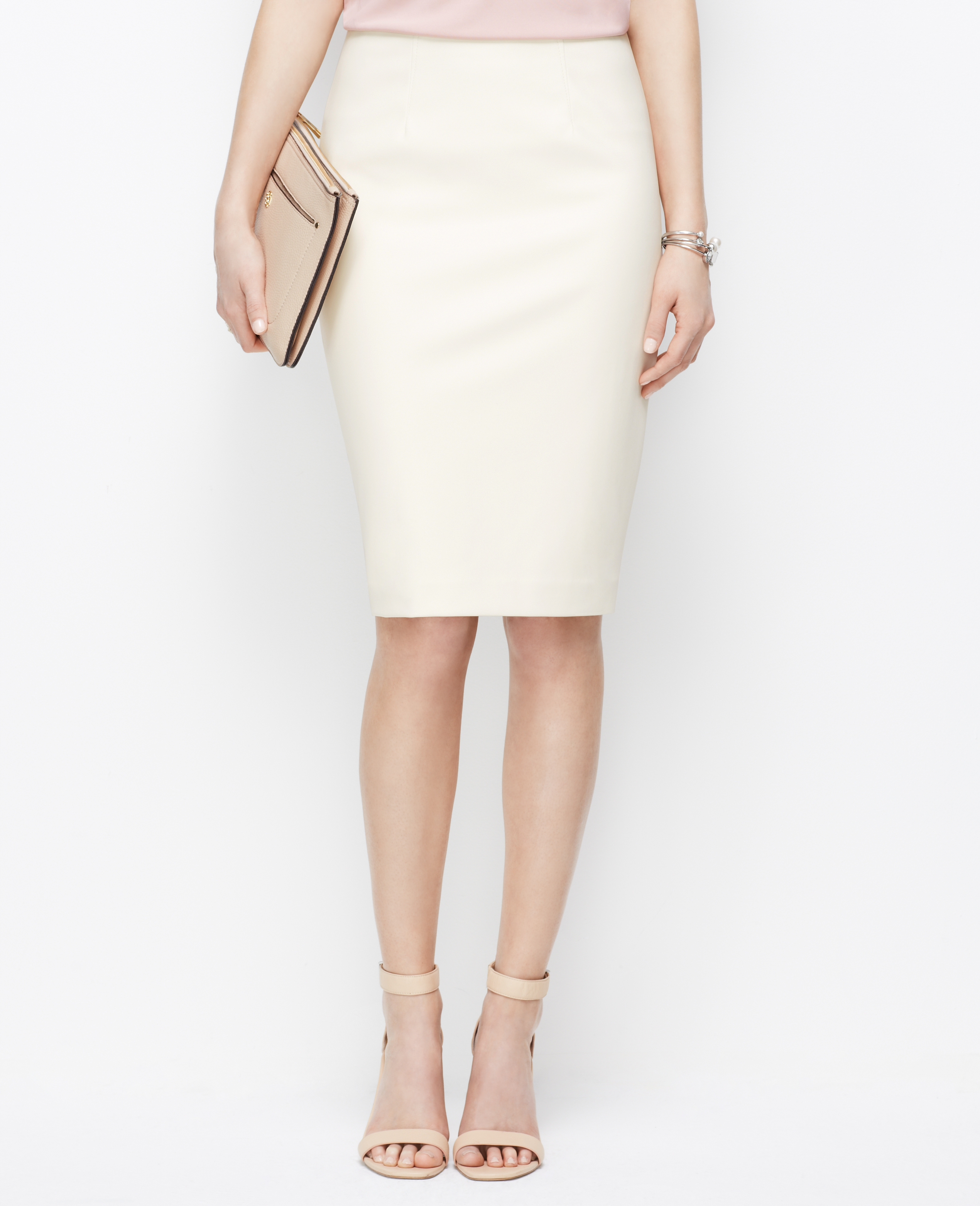 Petite Faux Leather Pencil Skirt