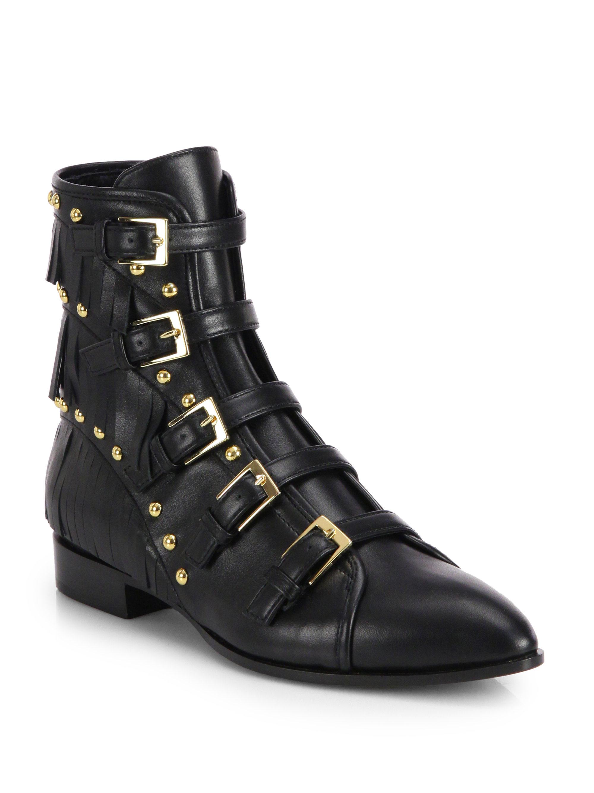 Giuseppe Zanotti 40MM PATENT LEATHER ANKLE BOOTS