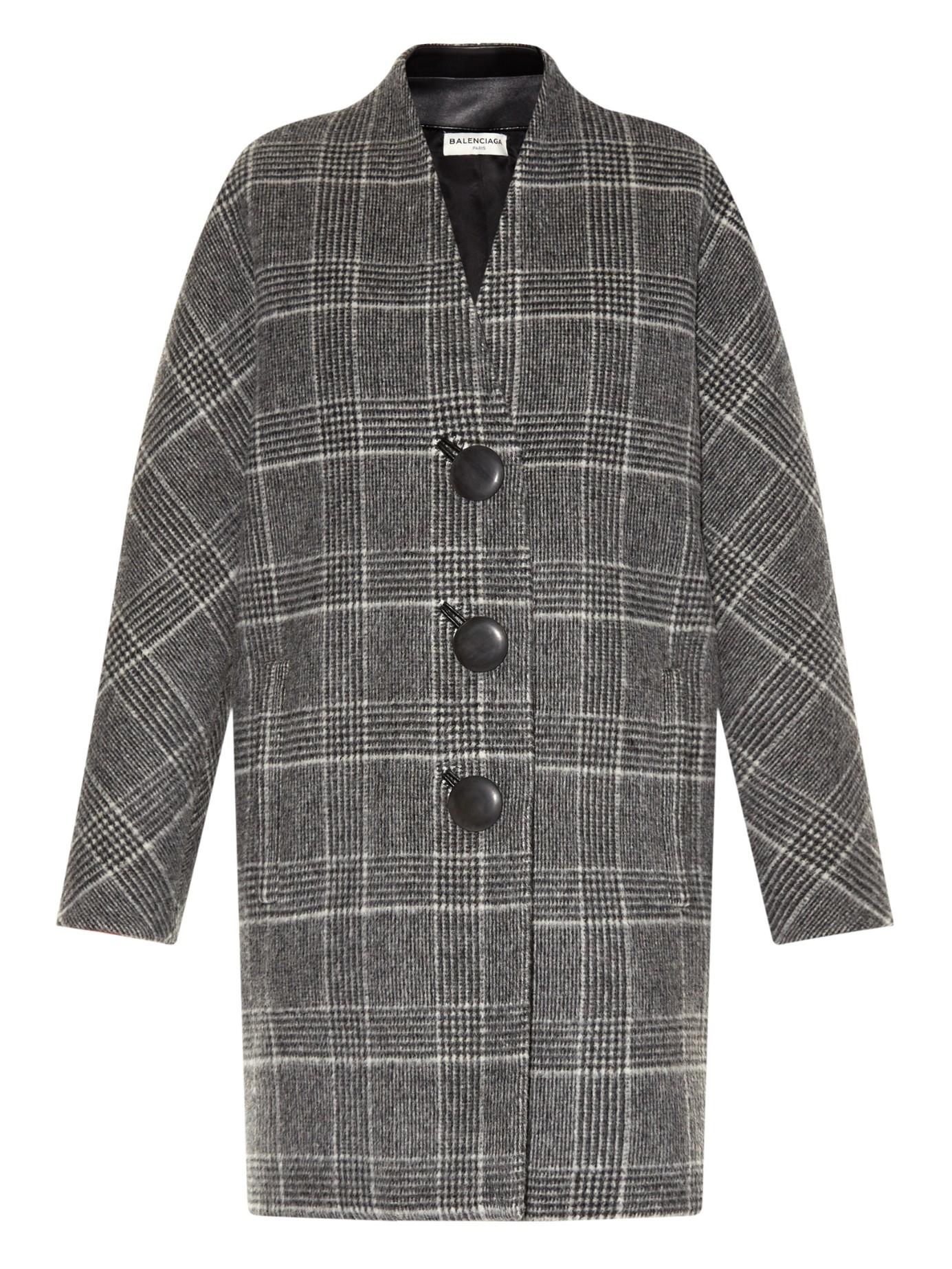 Balenciaga Wool And Alpaca Blend Cocoon Coat In Black Lyst