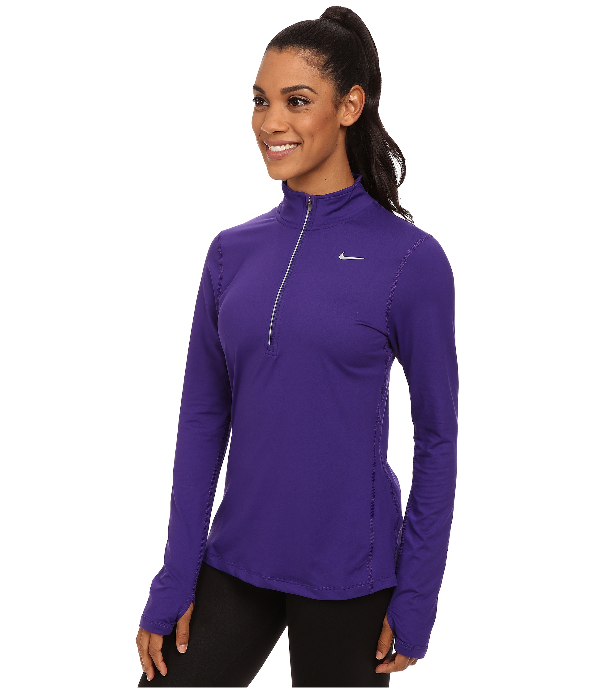 6858de70c800 Lyst - Nike Dri-fit™ Element Half Zip in Purple