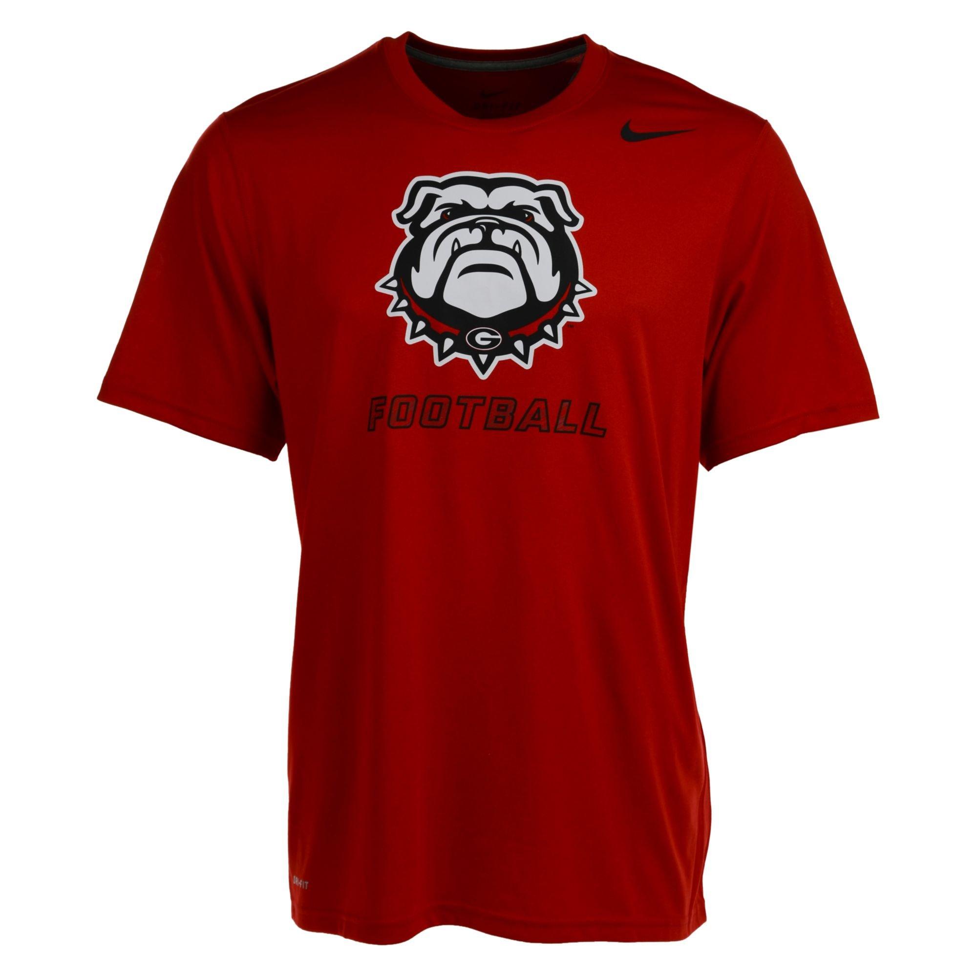 Nike Men 39 S Short Sleeve Georgia Bulldogs Dri Fit T Shirt