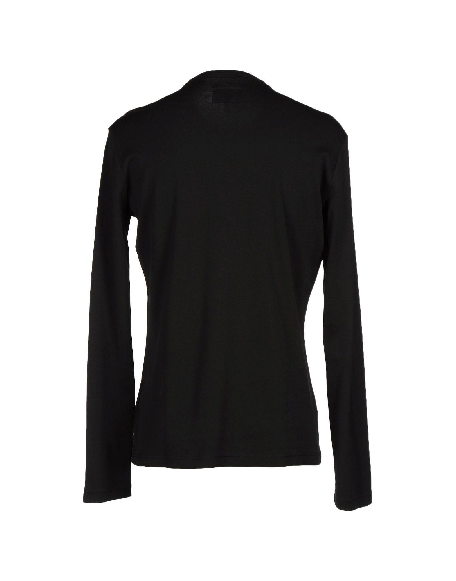 Lyst armani jeans t shirt in black for men for Black armani t shirt