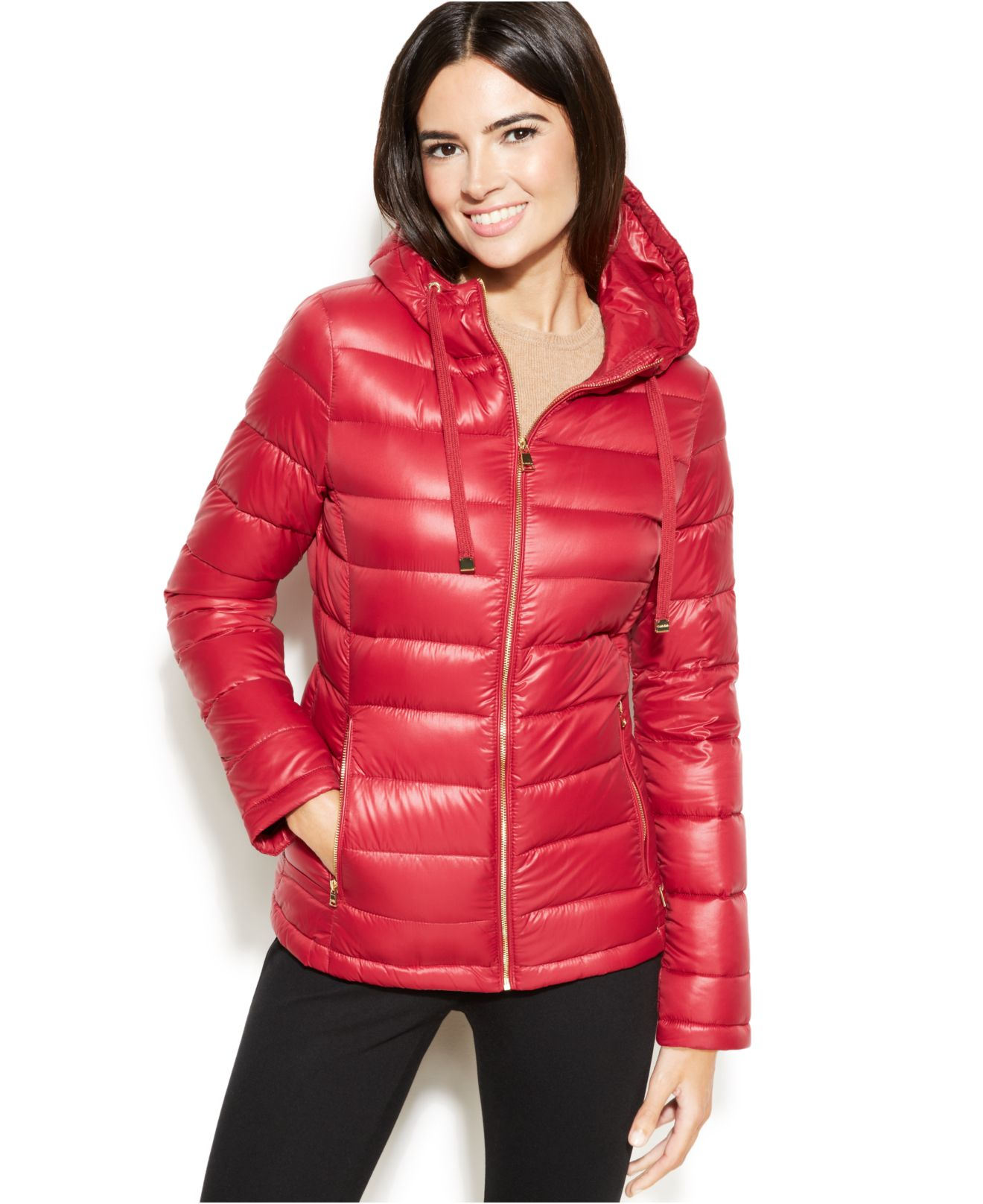 Lyst Calvin Klein Petite Hooded Quilted Packable Down