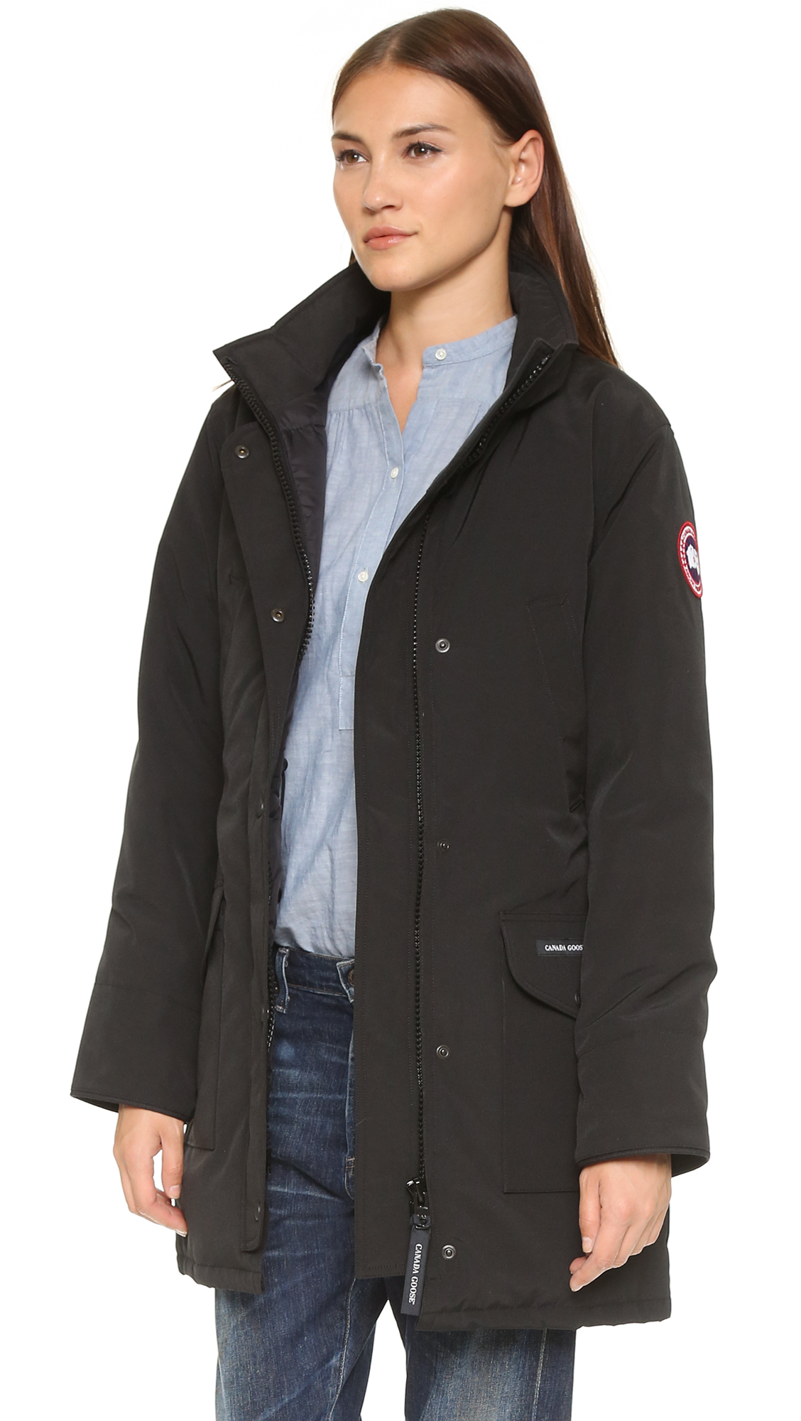 Canada Goose kensington parka sale cheap - Canada goose Trillium Parka - Military Green in Green (Black) | Lyst