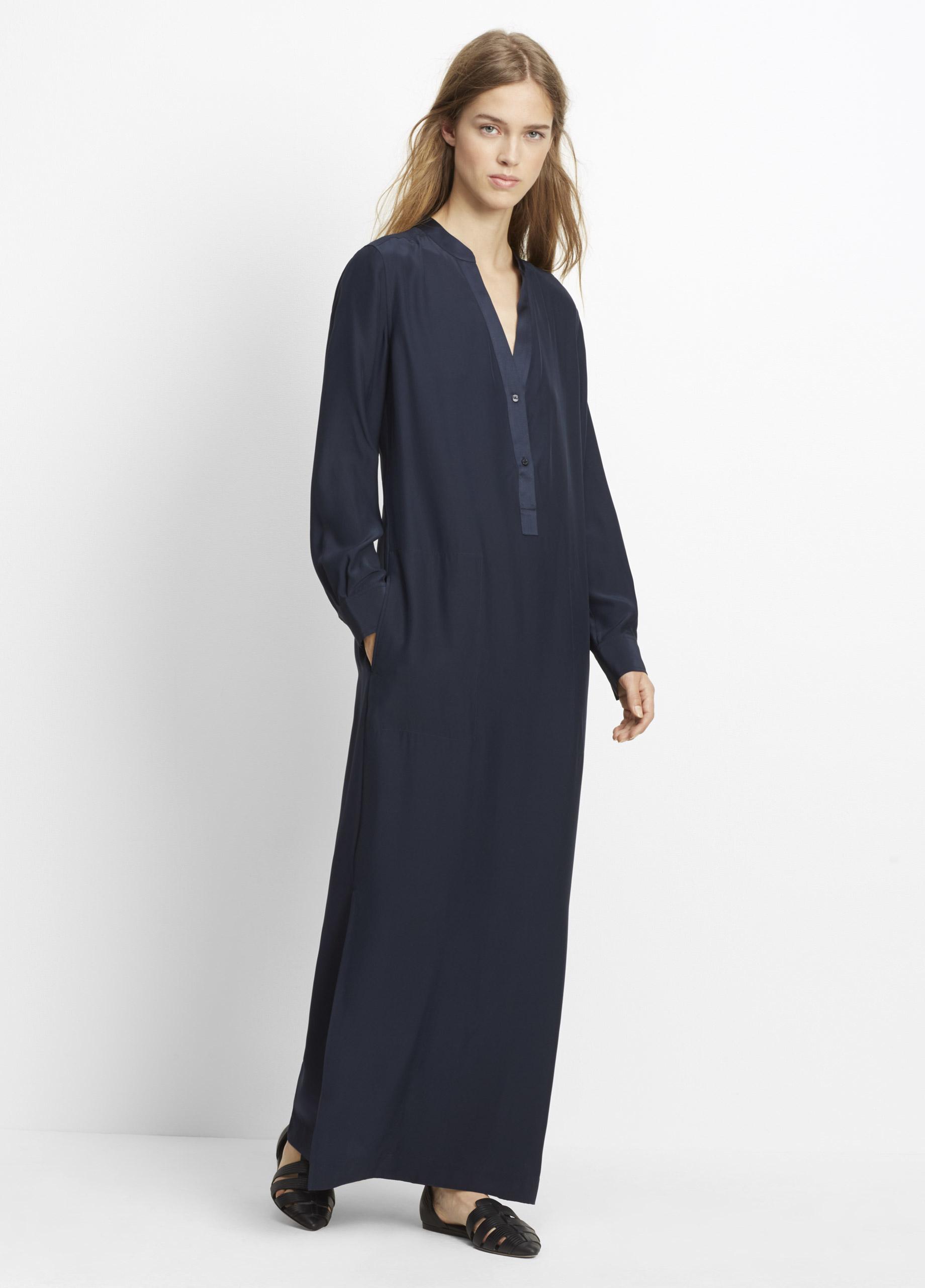 Tory Burch Rosemary Empire Waist Long Sleeve Silk Floral Maxi Dress. Tory Burch