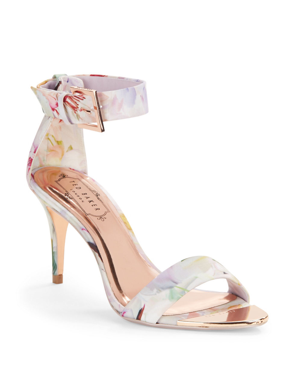 9474548bd12e Ted Baker Blynne Floral Open-toe Sandals in White - Lyst