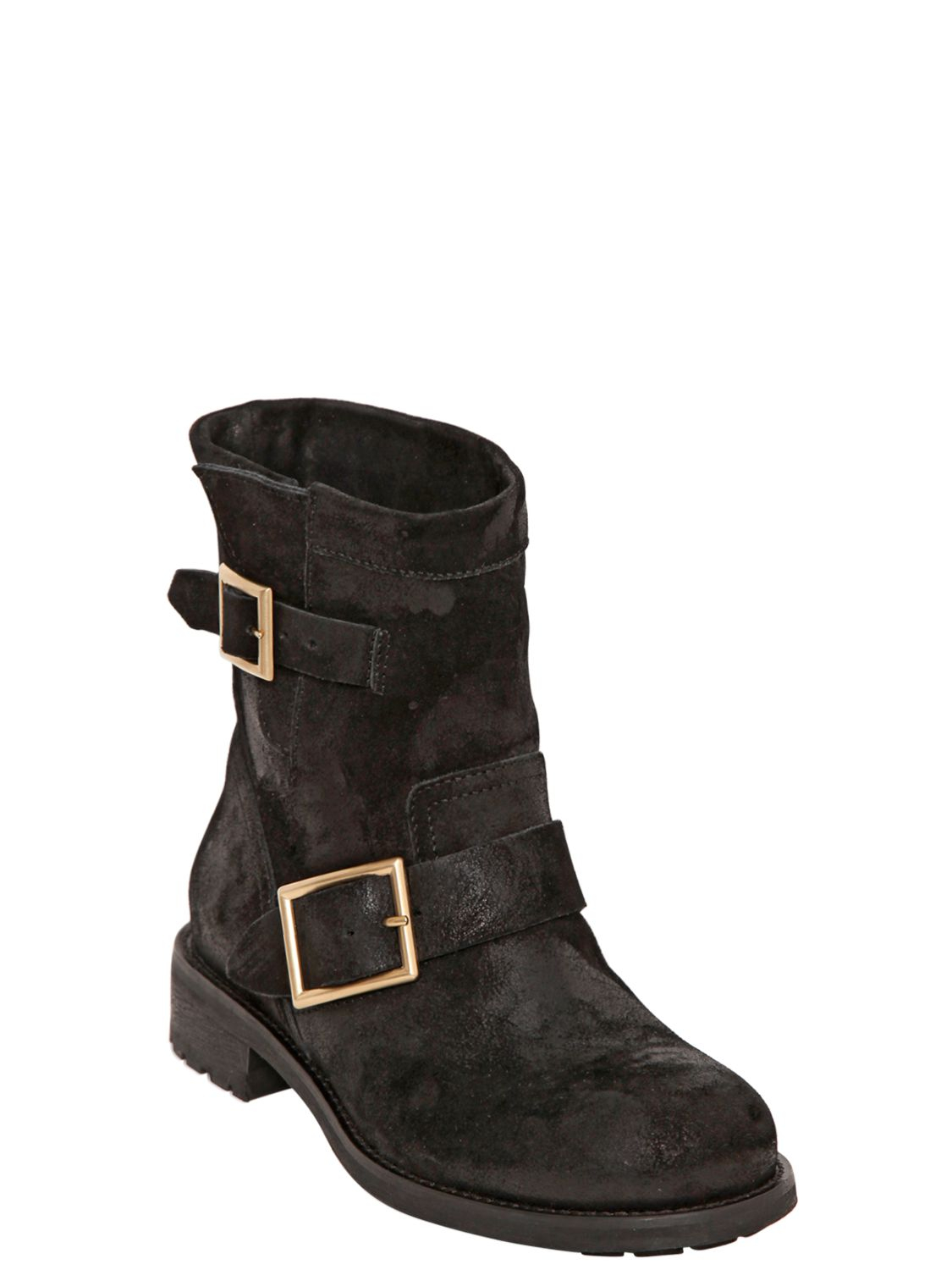 jimmy choo youth suede biker boots for sale louboutin discount