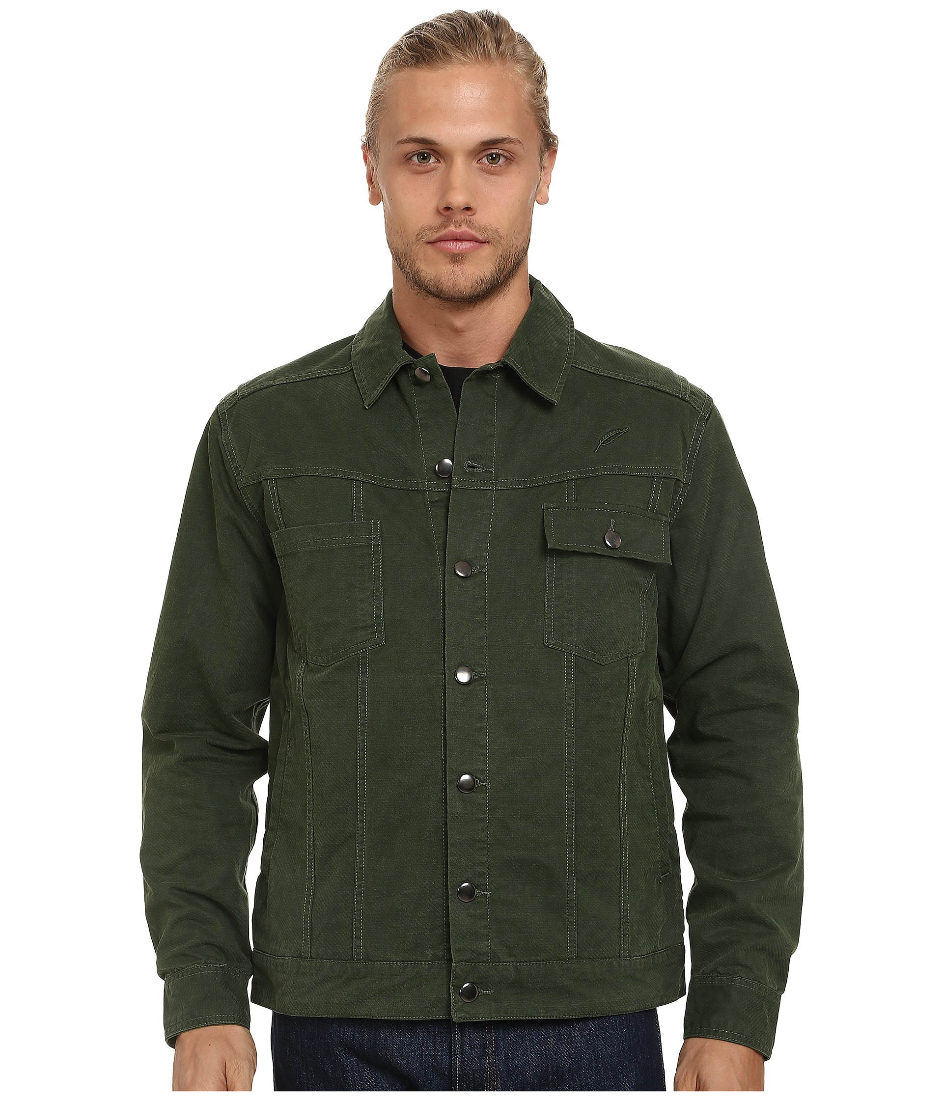 Timberland Tanner Twill On Denim Jacket in Green for Men | Lyst