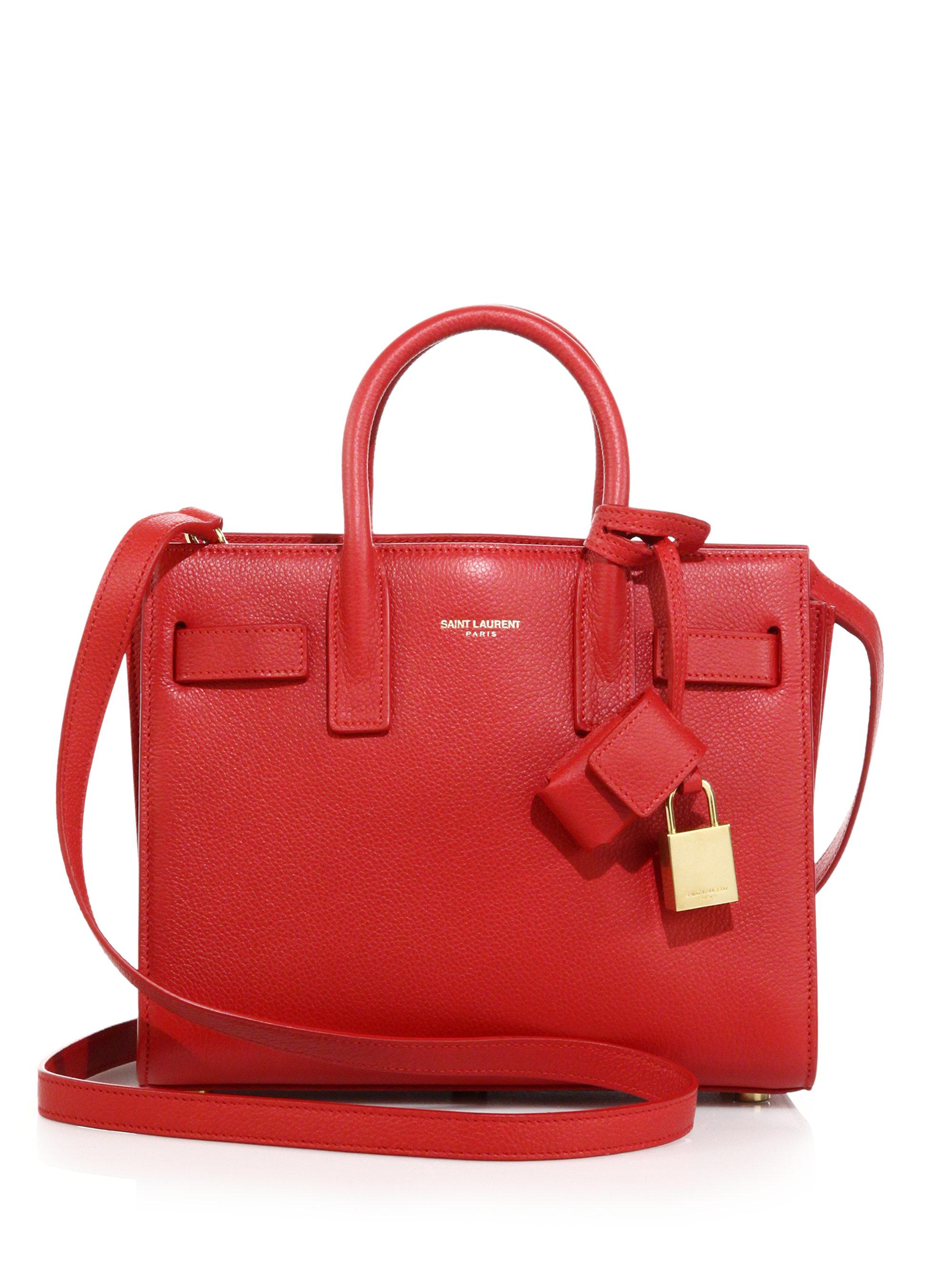 iv sen loren bags - sac de jour crocodile-stamped satchel bag, red