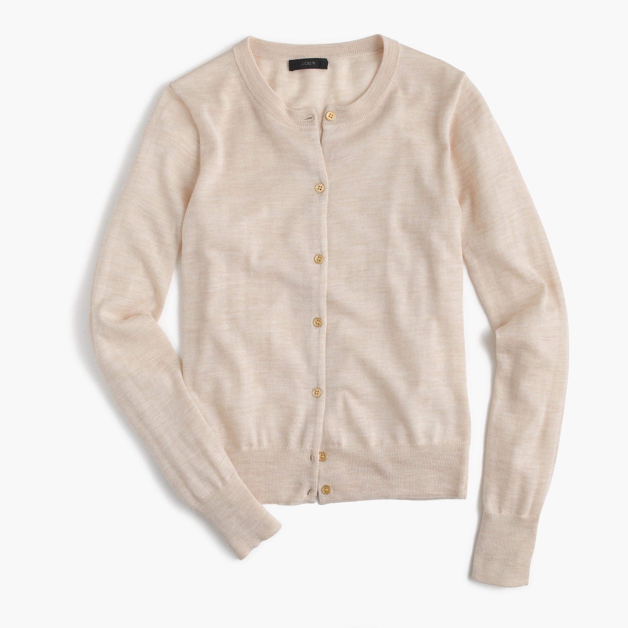 J.crew Lightweight Wool Jackie Cardigan Sweater in Natural | Lyst