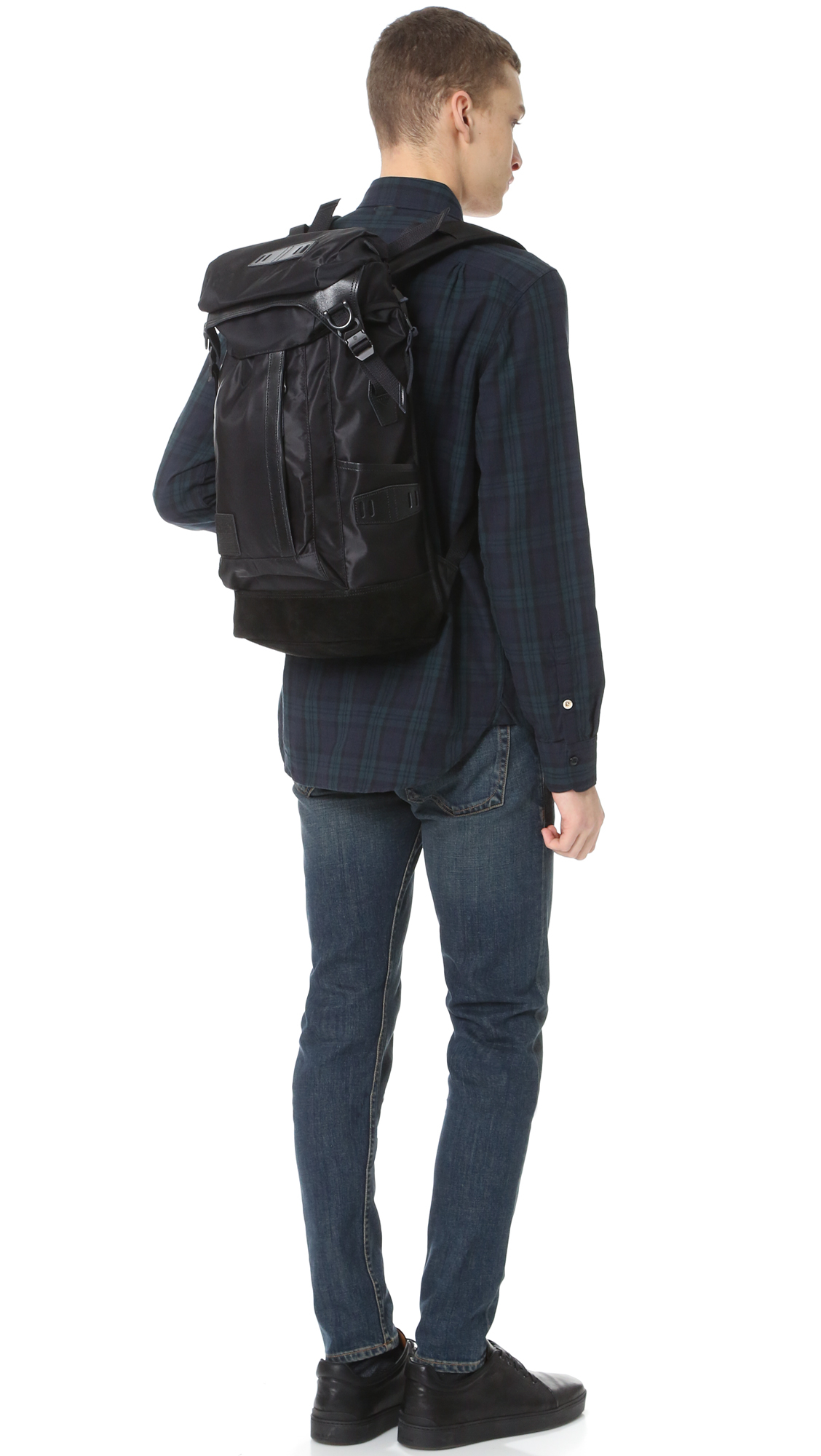 Master piece Solid Potential Backpack in Black for Men | Lyst