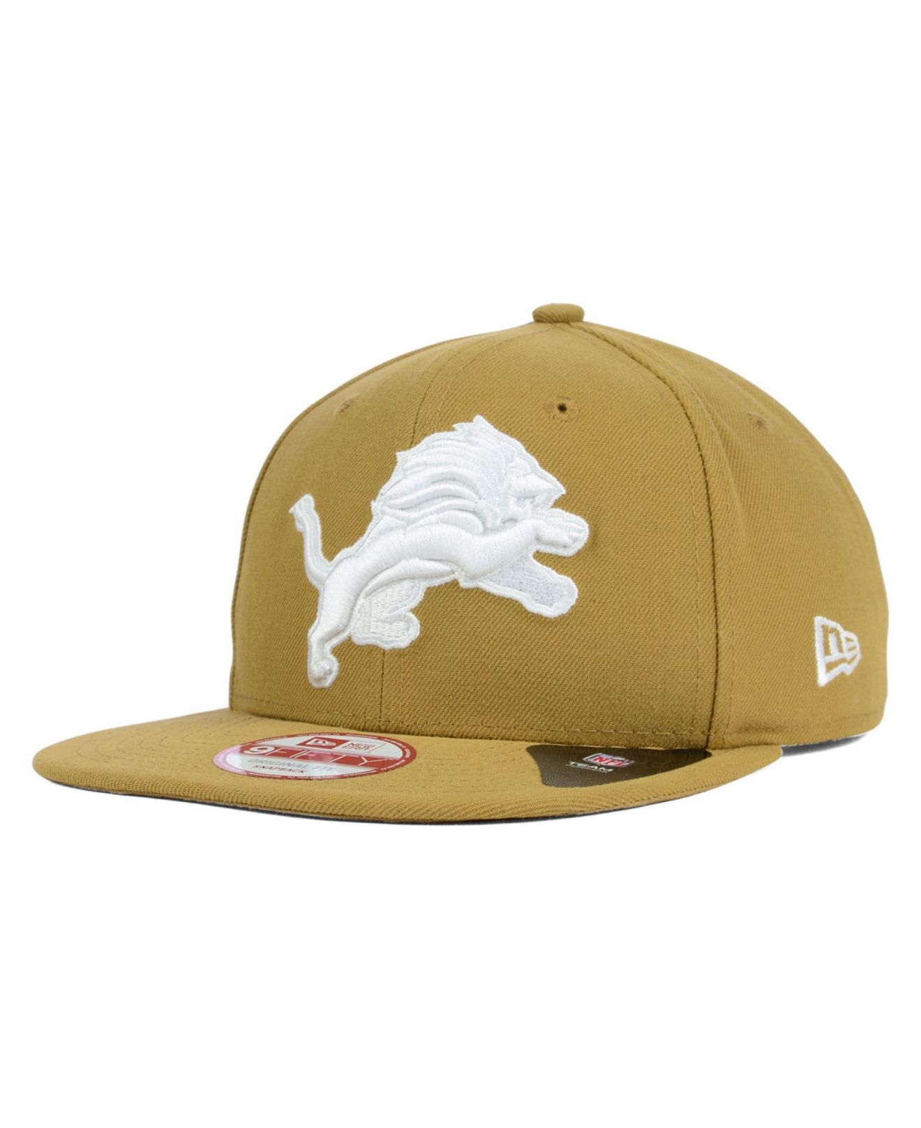 25efb80bfd4 ... greece lyst ktz detroit lions original fit 9fifty snapback cap in  natural 8c74f 08d92