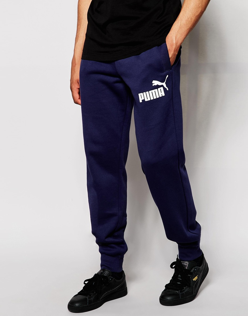 7176689ad2ac Lyst - PUMA Joggers With Logo in Blue for Men