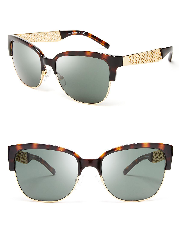 268462ecd6 Tory Burch Wayfarer Sunglasses in Brown (Tortoise Gold)