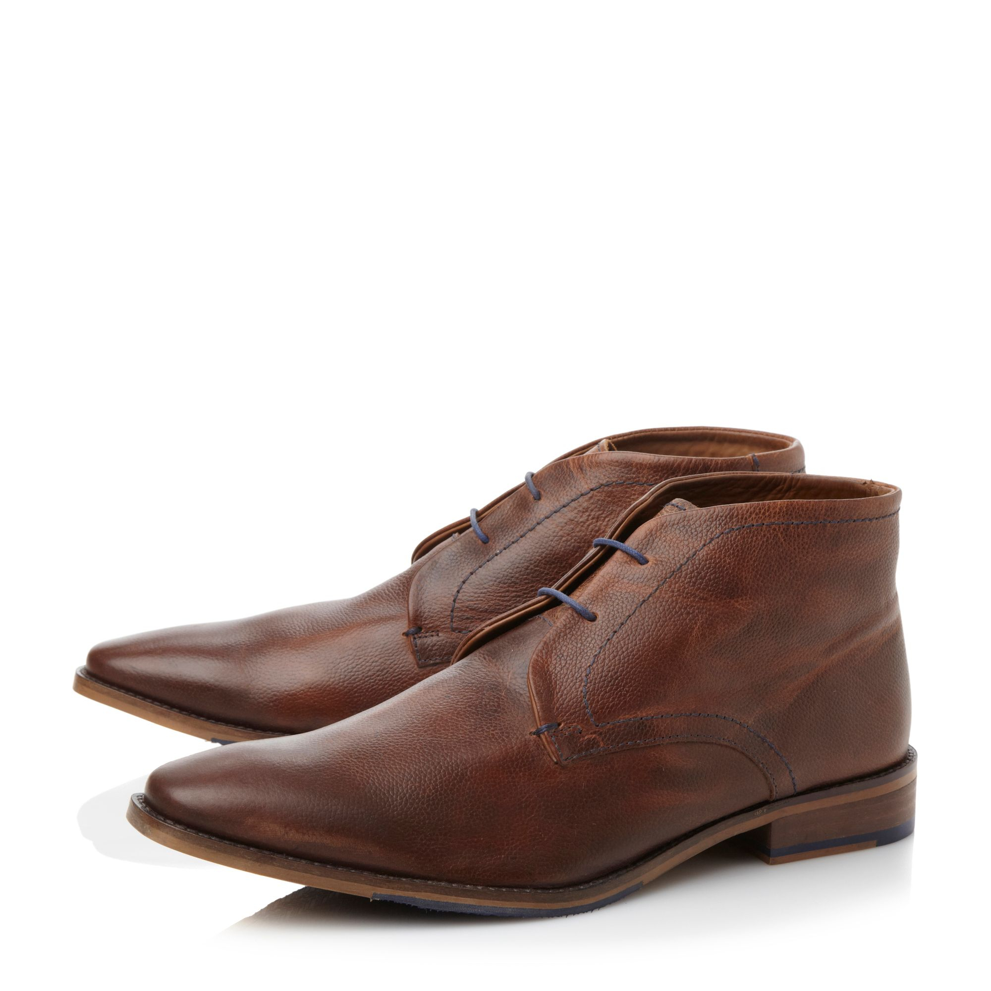 dune mandrake chukka boots in brown for lyst