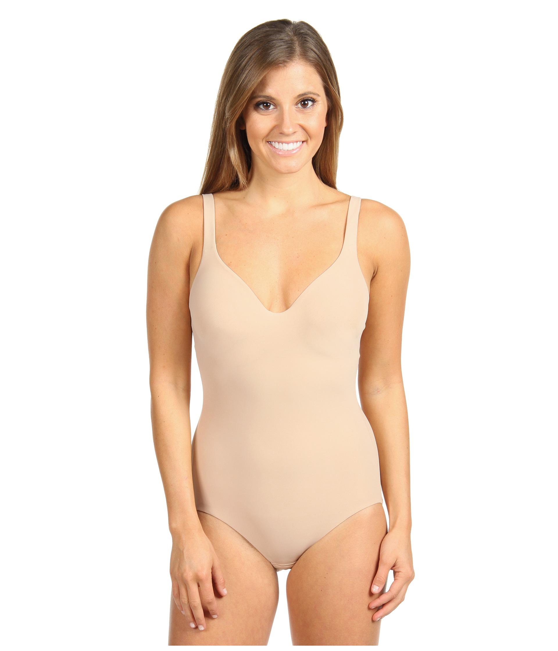 ffd145449e Lyst - Wacoal Try A Little Slenderness Bodysuit in Natural