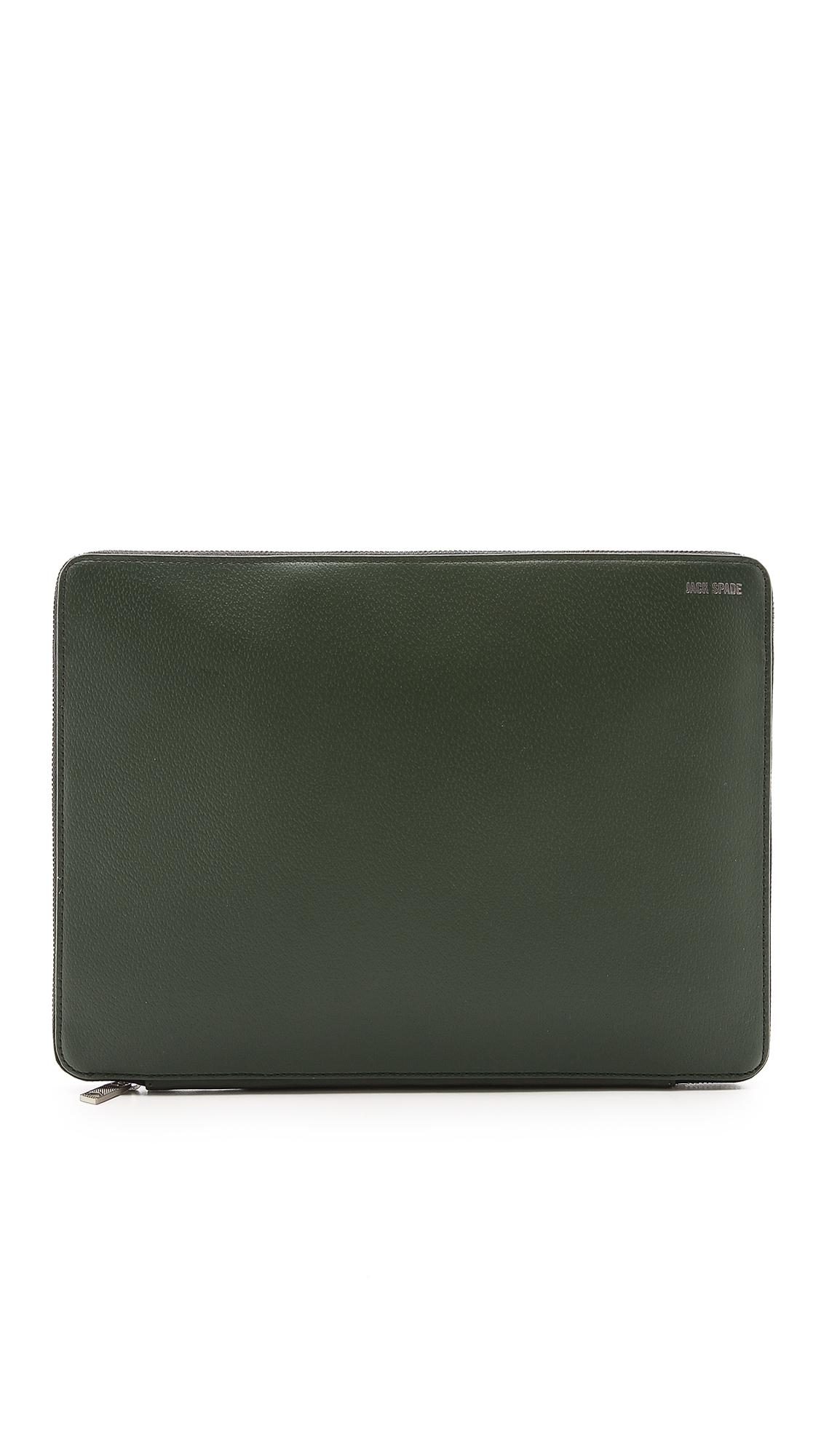 Jack spade Grant Leather Portfolio in Green for Men (Rosin Green ...