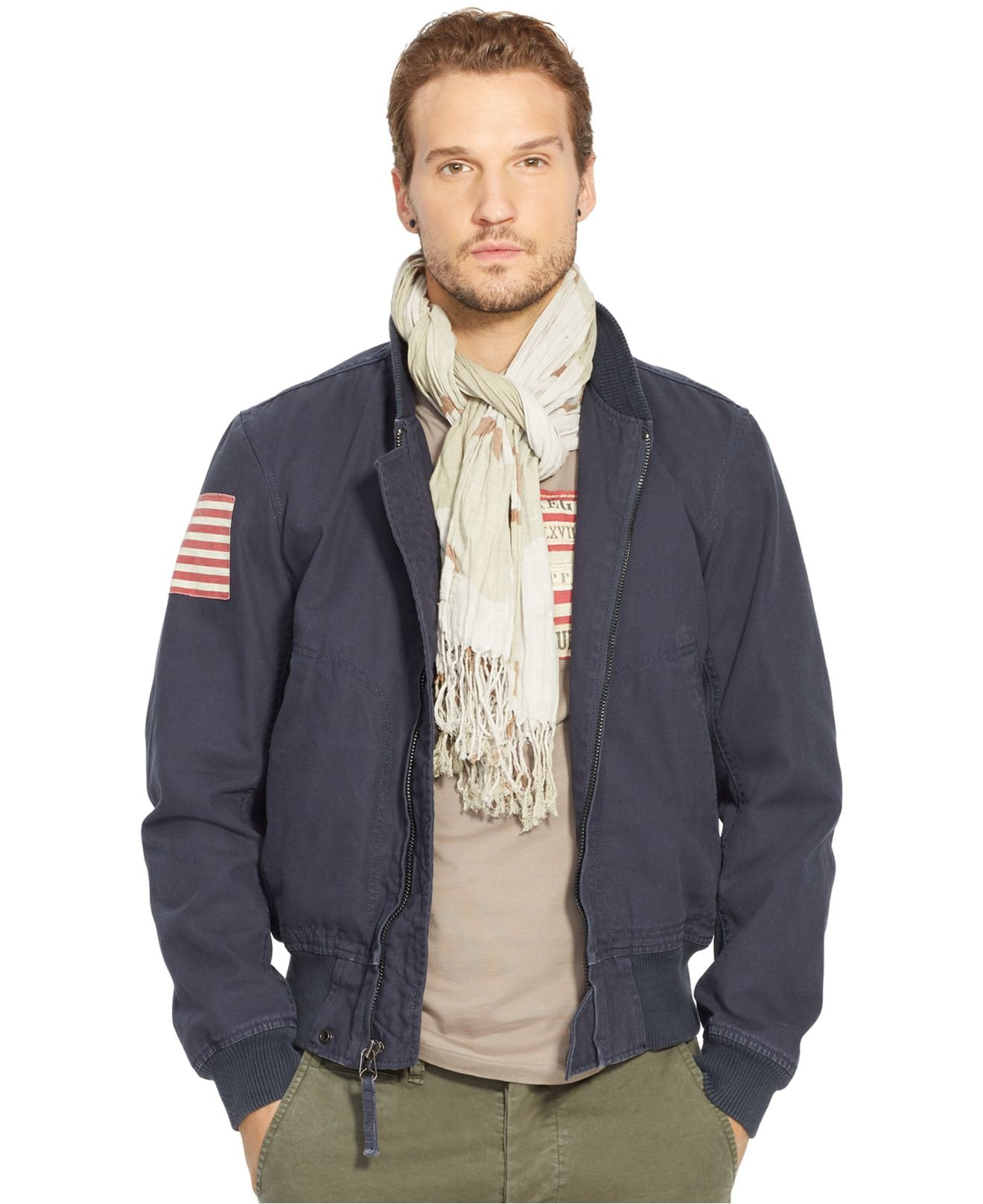 Denim u0026 supply ralph lauren Menu0026#39;s Canvas Bomber Jacket in Black for Men | Lyst