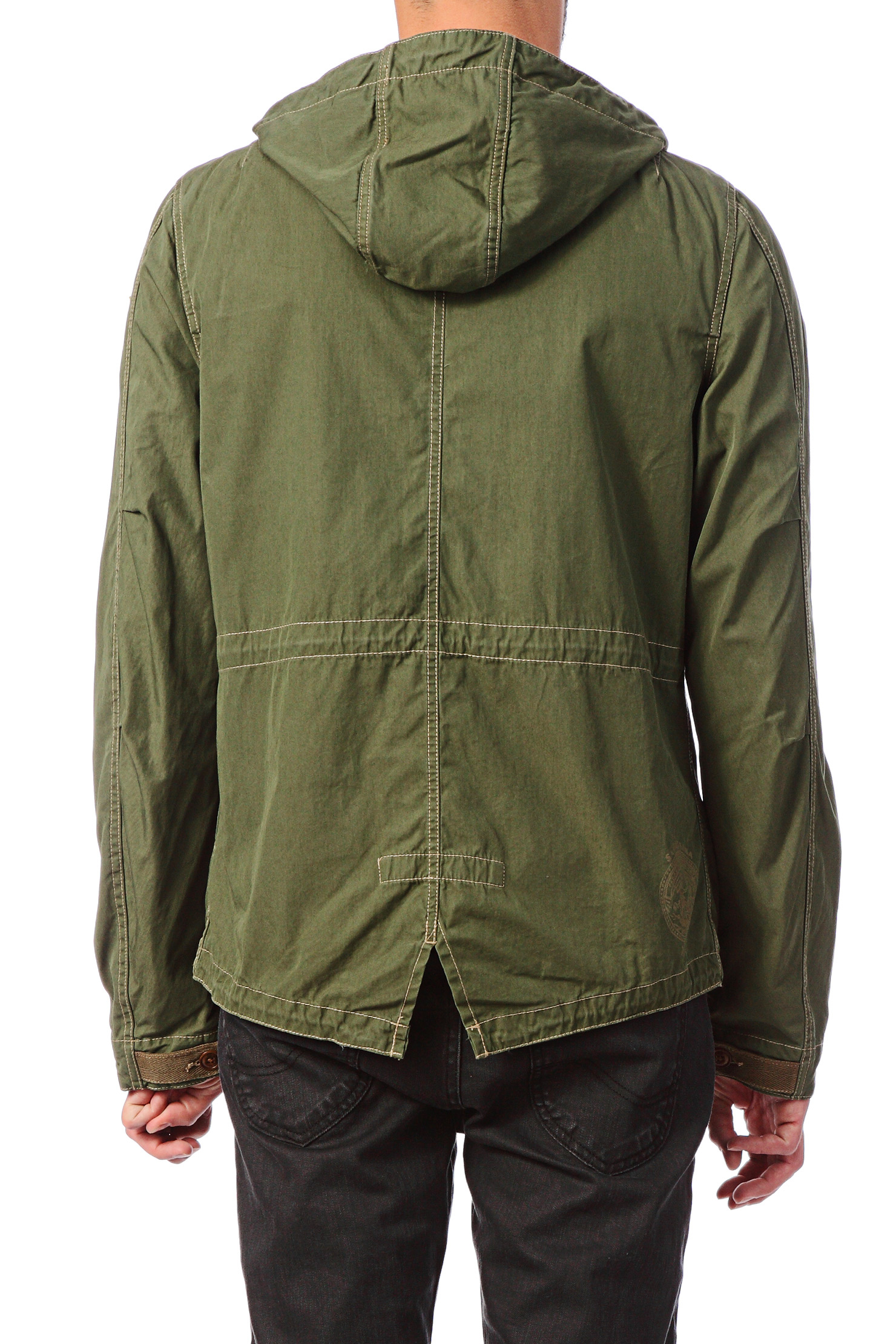 scotch soda parka in green for men lyst. Black Bedroom Furniture Sets. Home Design Ideas