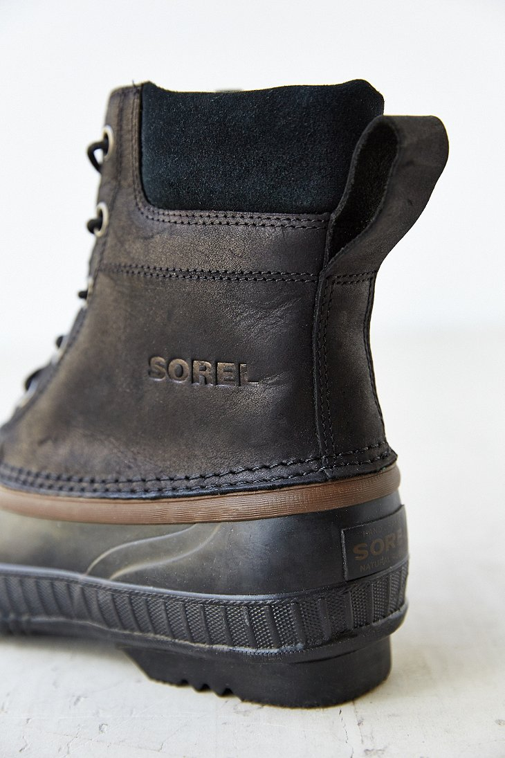 Sorel Suede Duck Boot In Black For Men Lyst