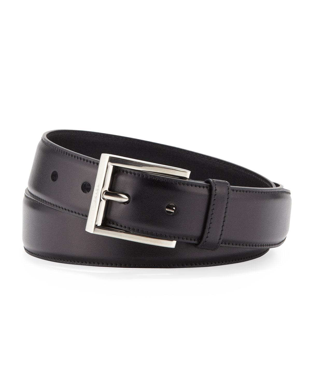 Prada Spazzolato Belt In Black For Men (nero (black))