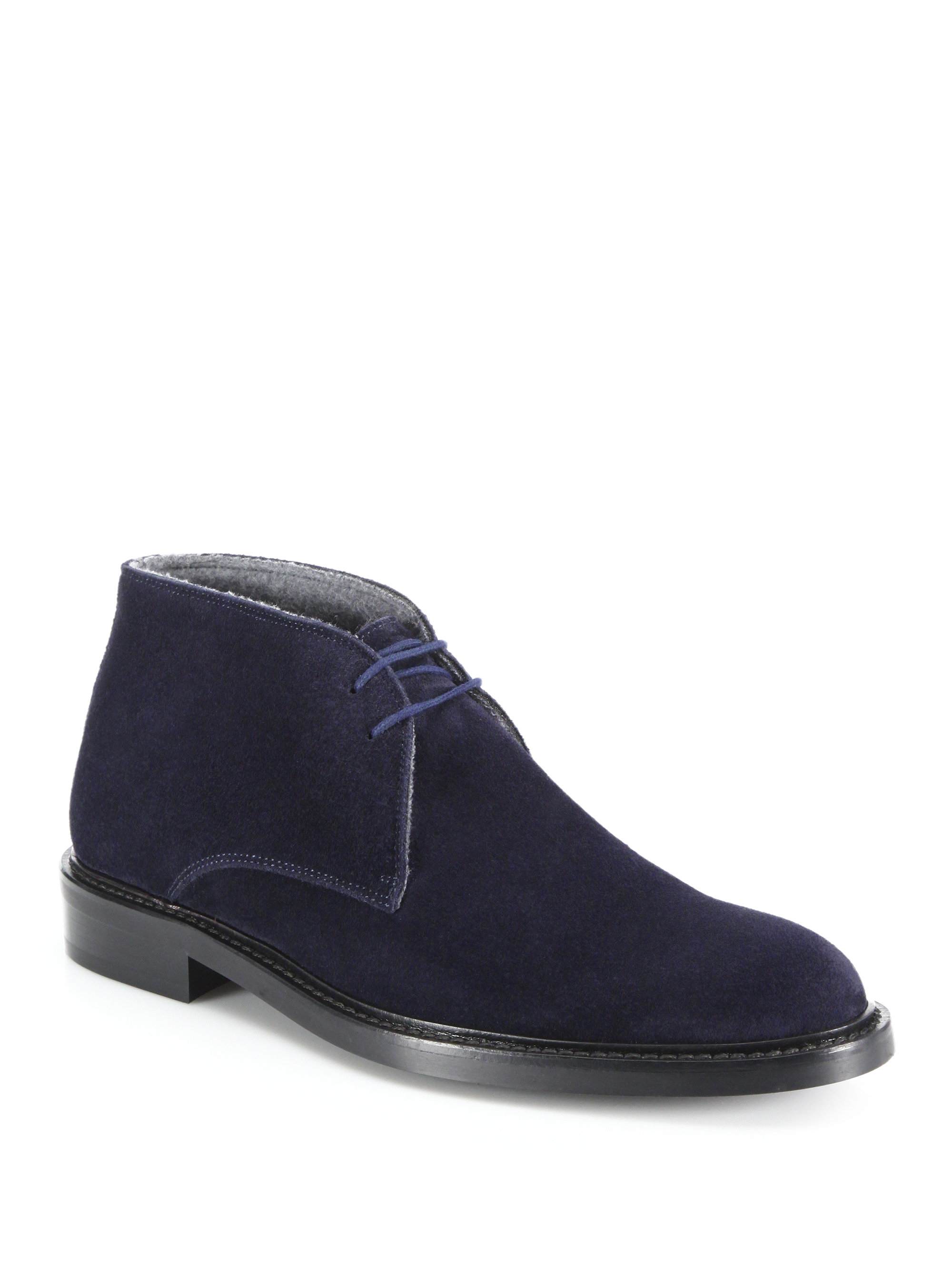 To Boot Brewer Suede Chukka Boots In Blue For Men Lyst