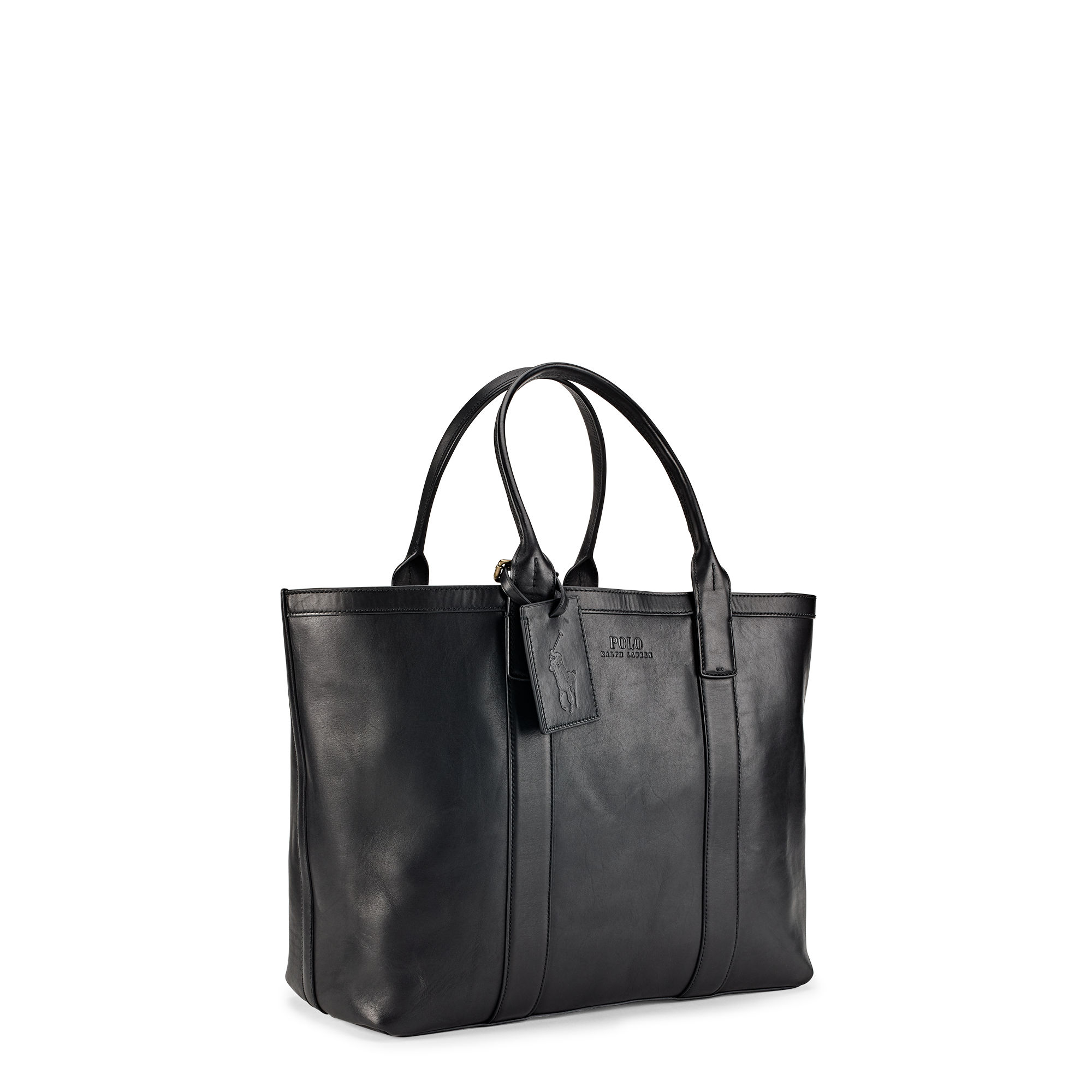 441d31b9b230 Polo Ralph Lauren Classic Leather Tote in Black for Men - Lyst