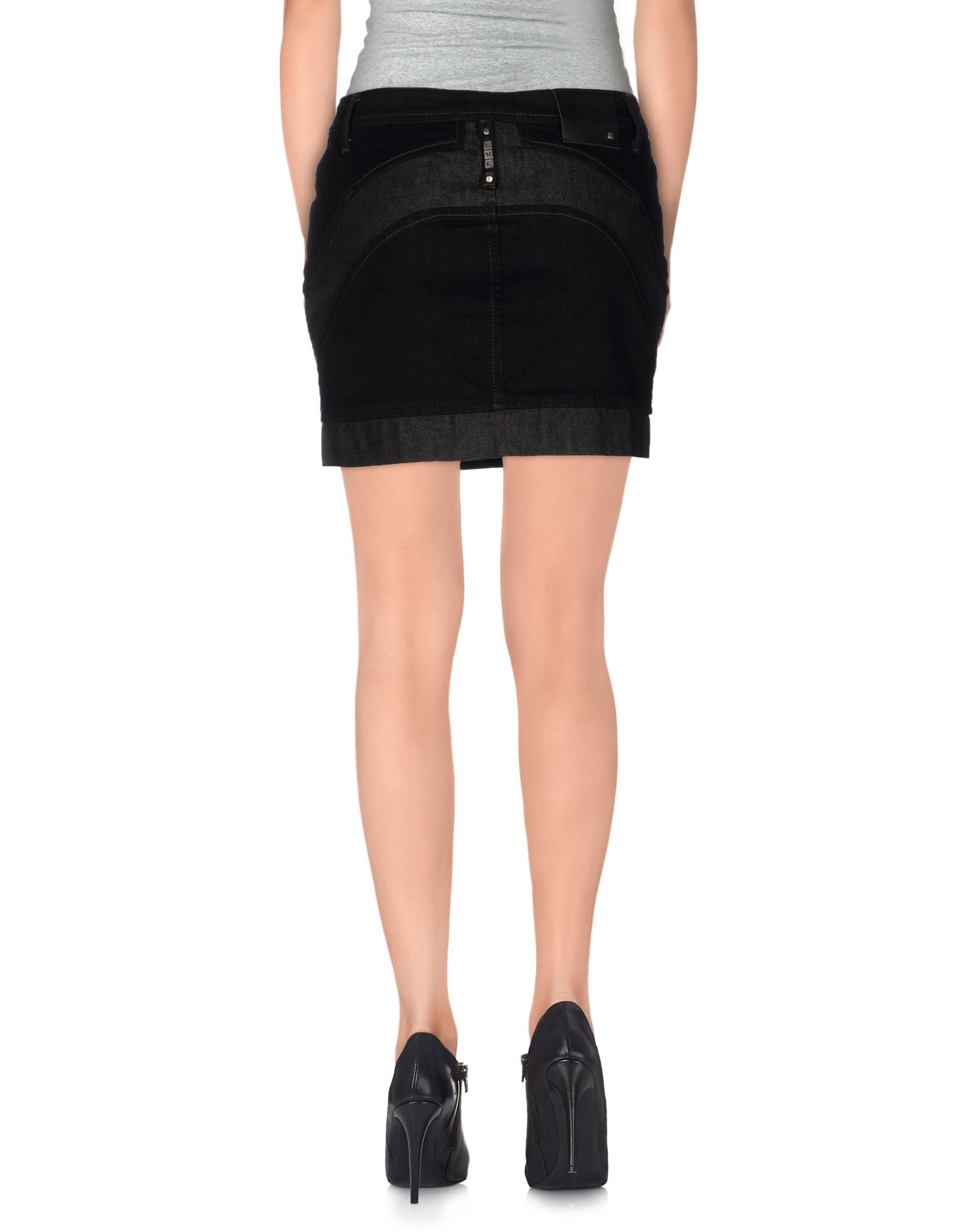 costume national denim skirt in black lyst