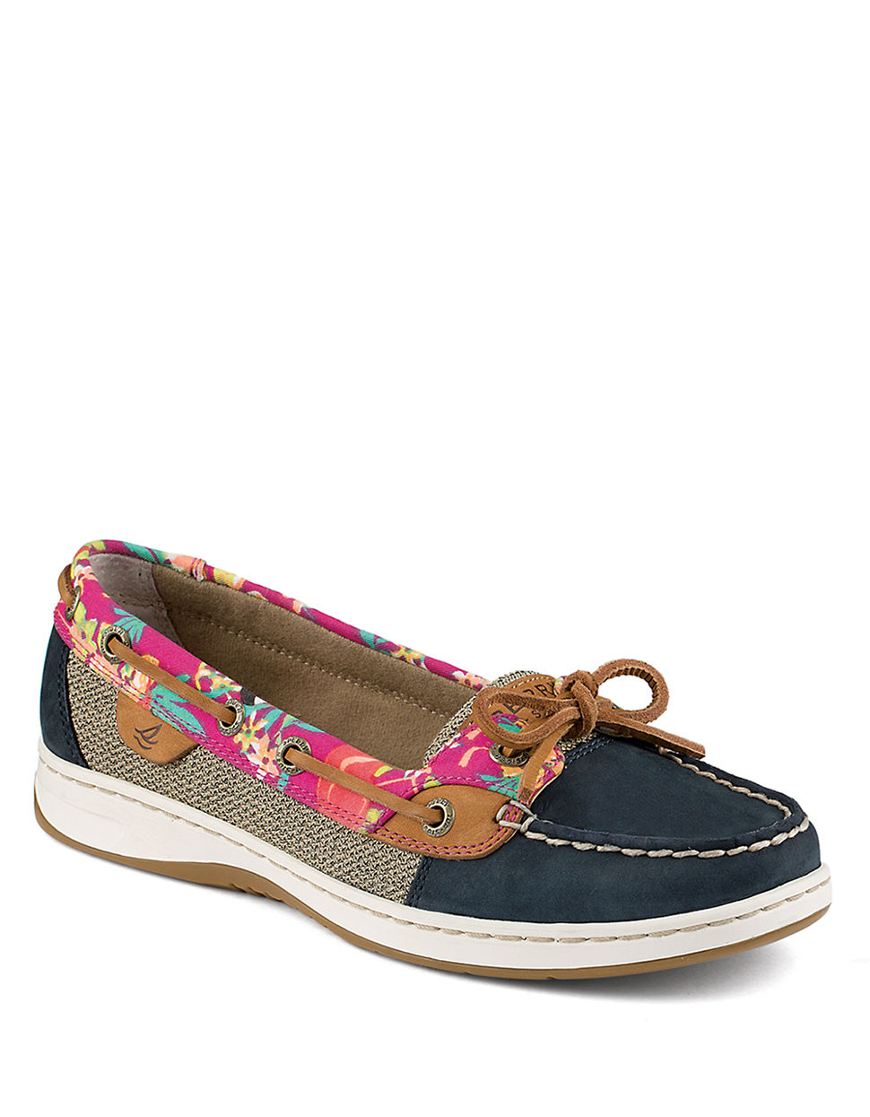 Sperry top sider angel fish 2 eye boat shoes in blue lyst for Best boat shoes for fishing