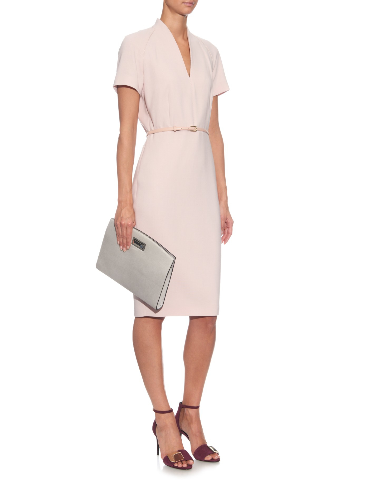 Lyst Max Mara Curvato Dress In Pink