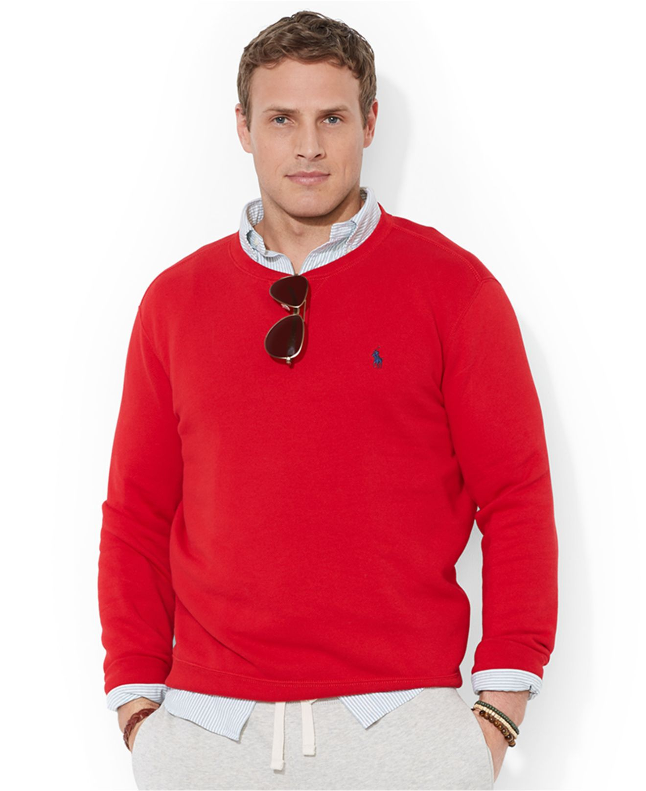 Polo Ralph Lauren Big And Tall Crew Neck Fleece Sweatshirt