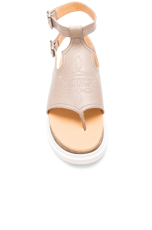 Lyst mm6 by maison martin margiela buckled sandal in gray for Mm6 maison martin margiela