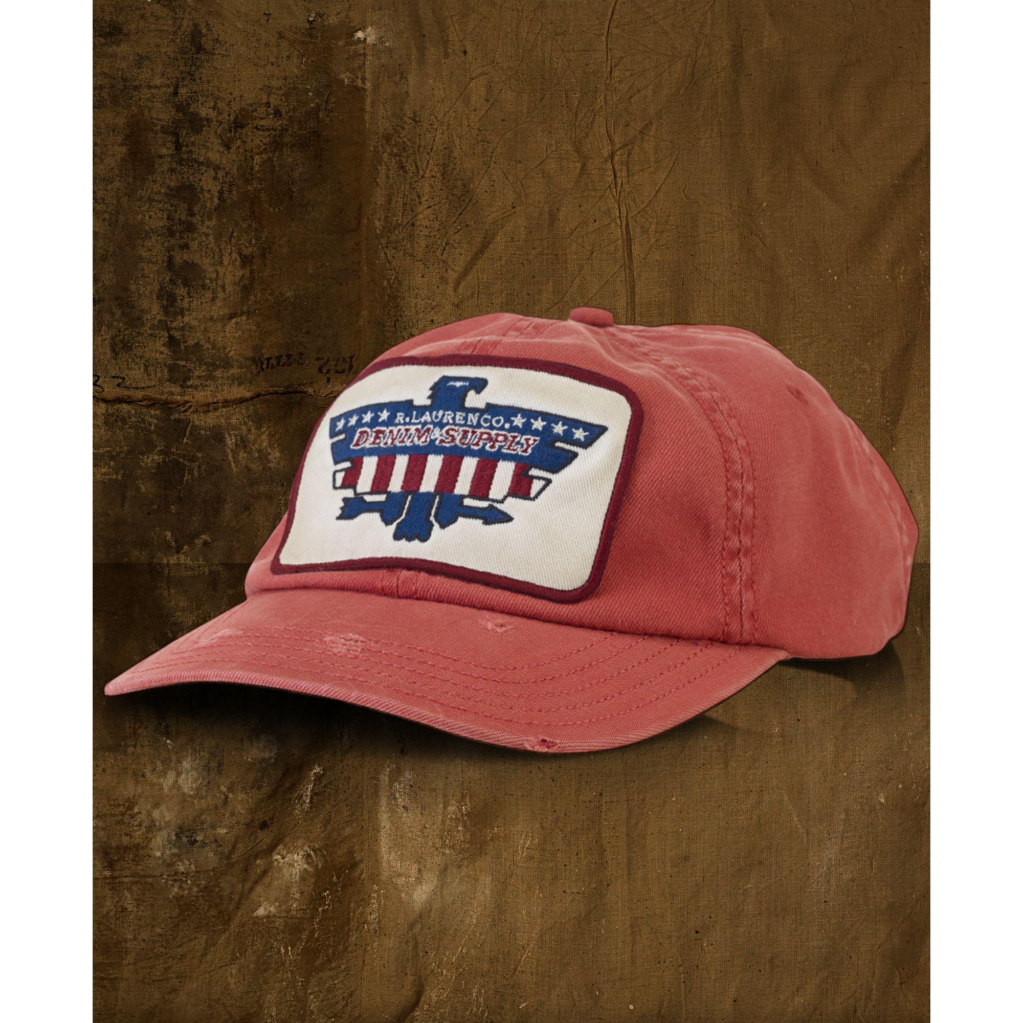 a581e7737cc Lyst - Denim   Supply Ralph Lauren Twill Eaglepatch Baseball Cap in ...