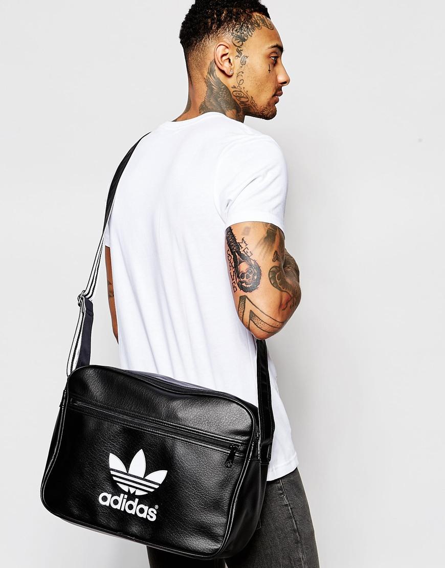2fce2aba33 Lyst - adidas Originals Airliner Messenger Bag in Black for Men