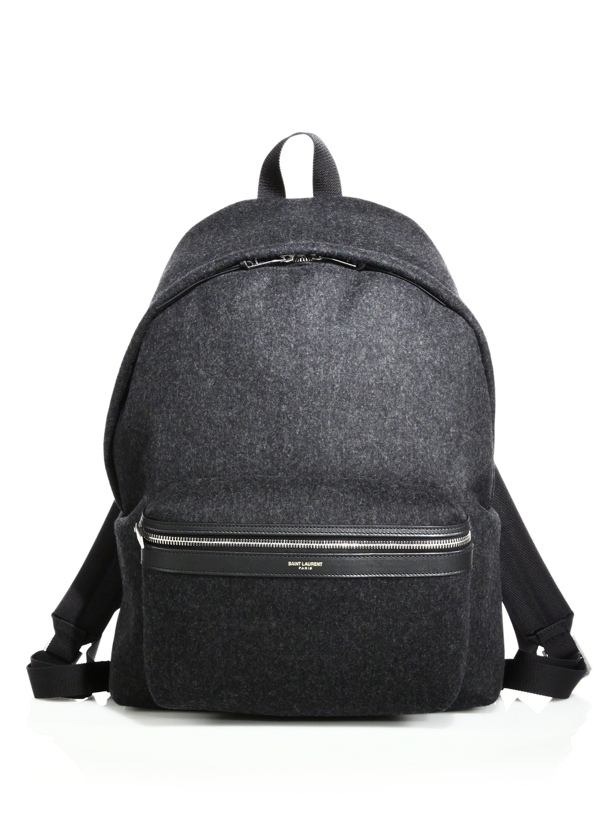 cheap yves saint laurent - Saint laurent Flannel Hunting Backpack in Gray for Men (dark grey ...