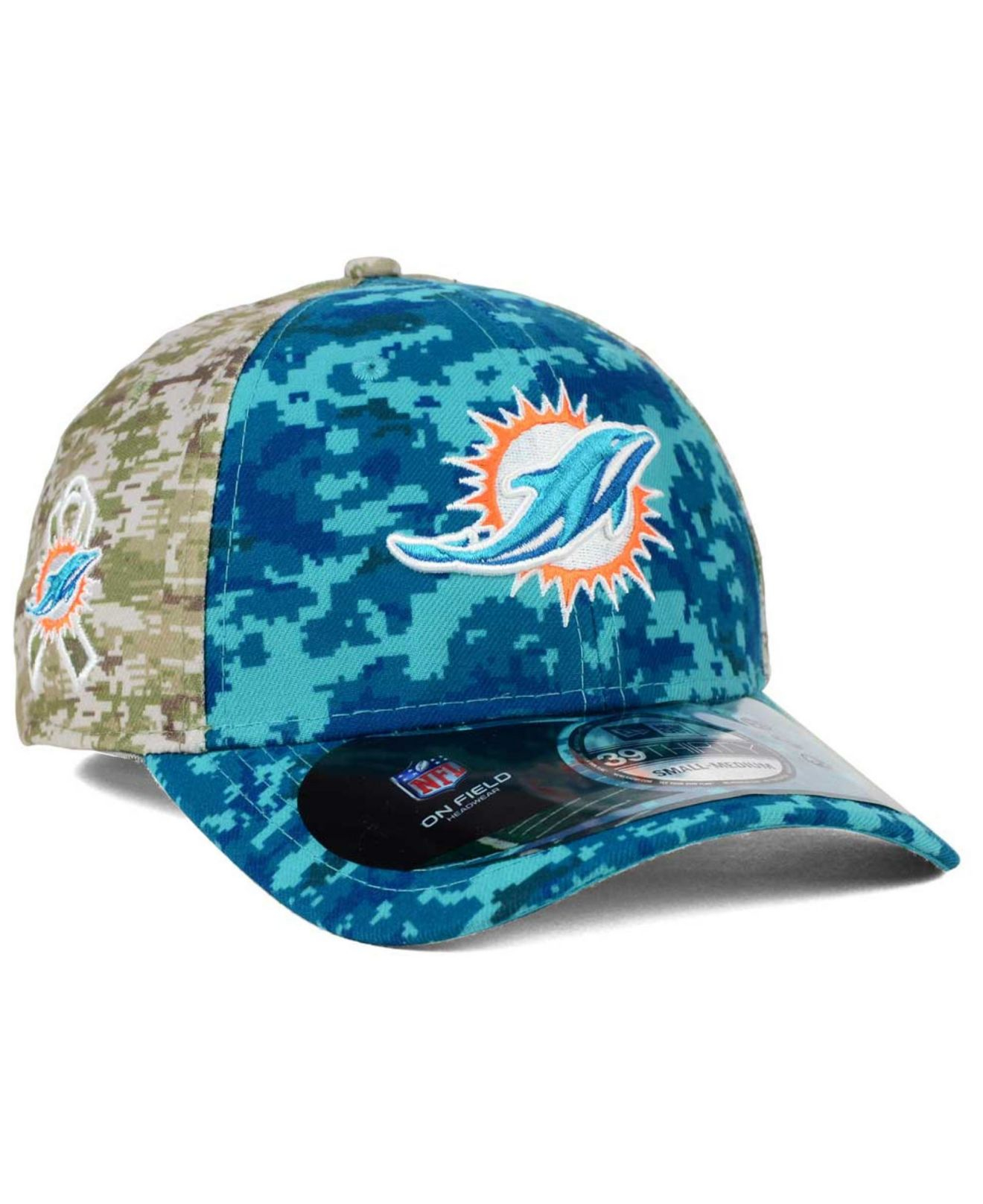 Lyst - KTZ Miami Dolphins Salute To Service 39thirty Cap in Blue for Men 03b64216c
