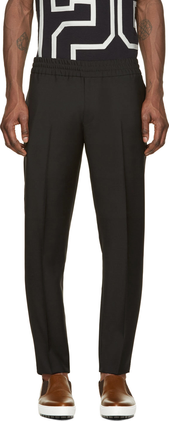 Lyst Acne Studios Black Ryder Long Chino Trousers In For Men Celana Formal Wool Gallery