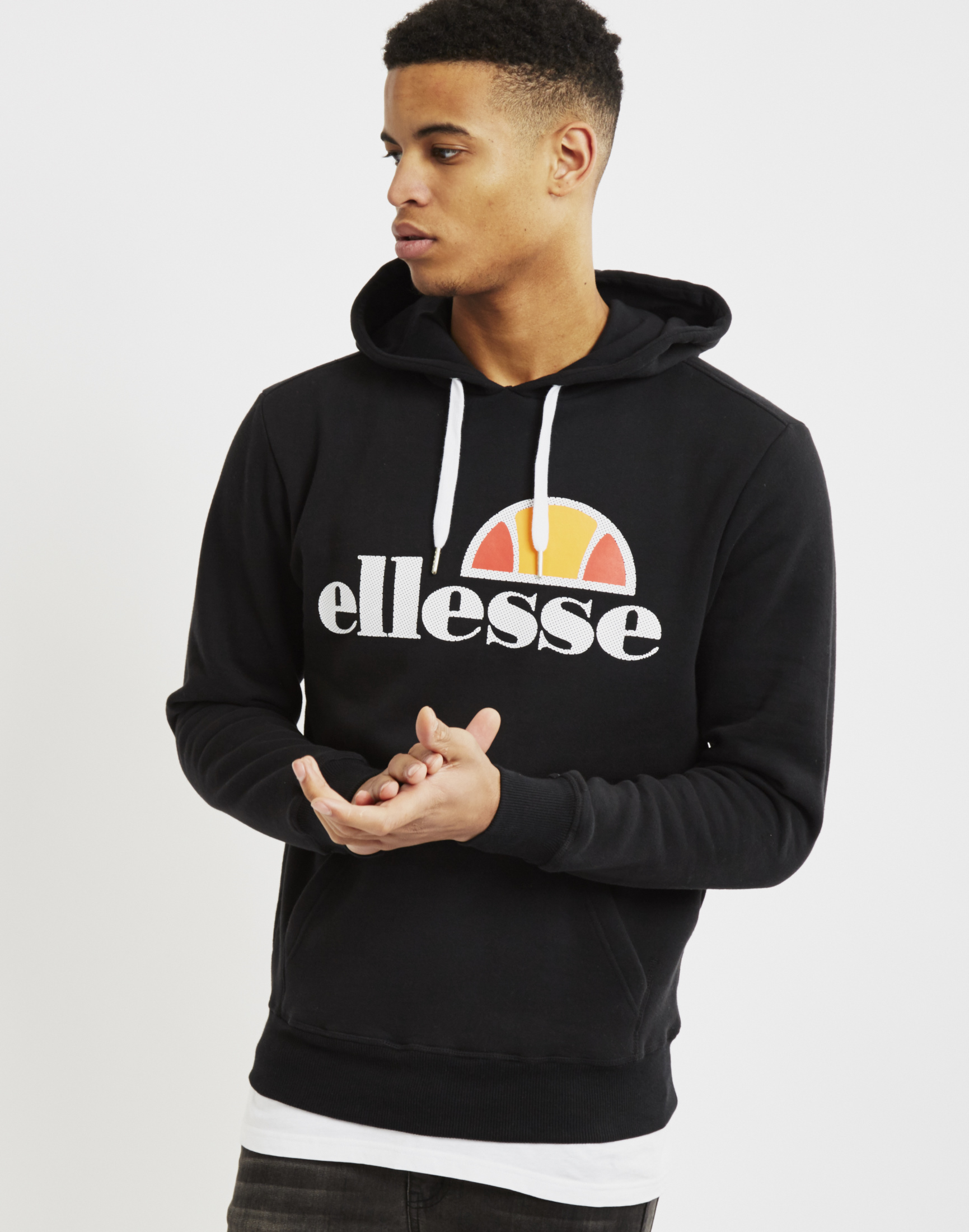 Ellesse Hoo With Classic Logo Black In Black For Men
