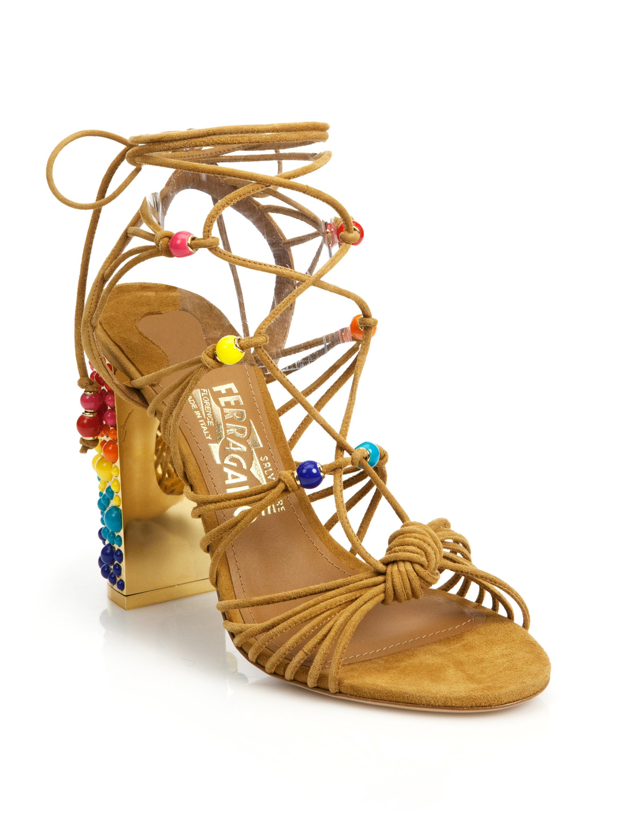 clearance supply Salvatore Ferragamo Lace-Up Cage Sandals clearance big sale cheap marketable discount 2014 new gY0fNhUFb