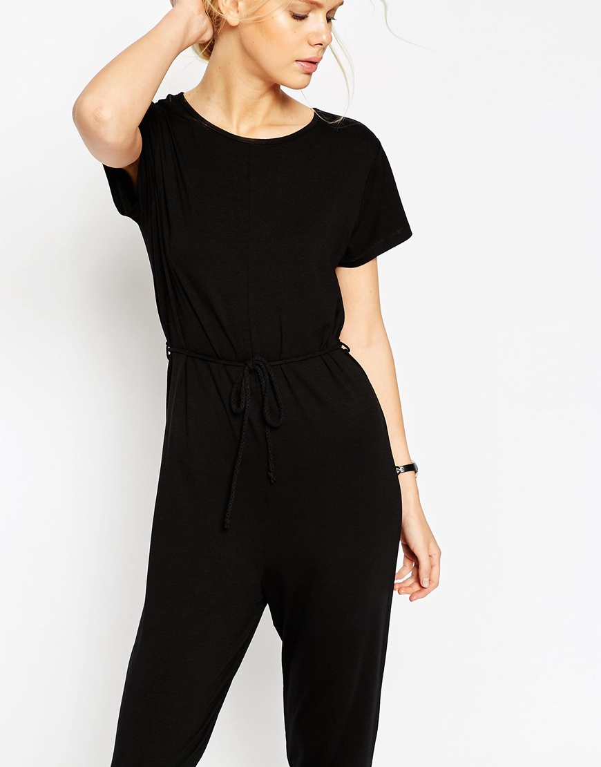 Black t shirt playsuit - Gallery