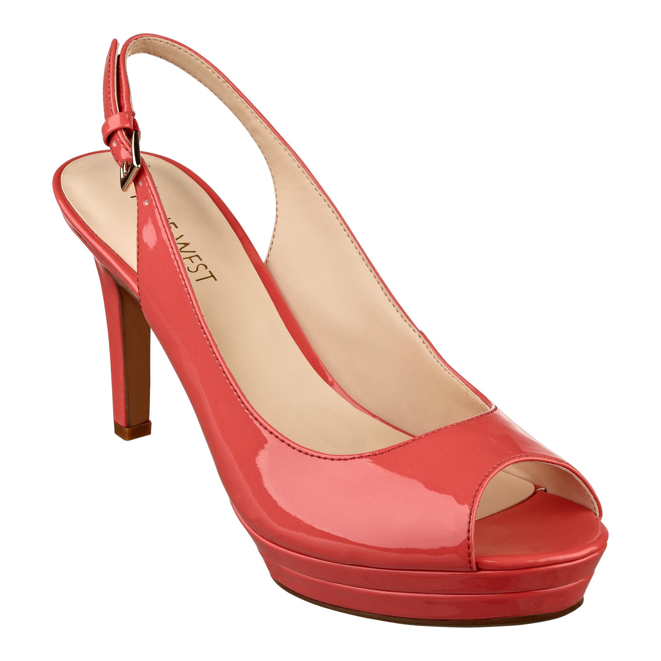 Peach Peep Toe Shoes