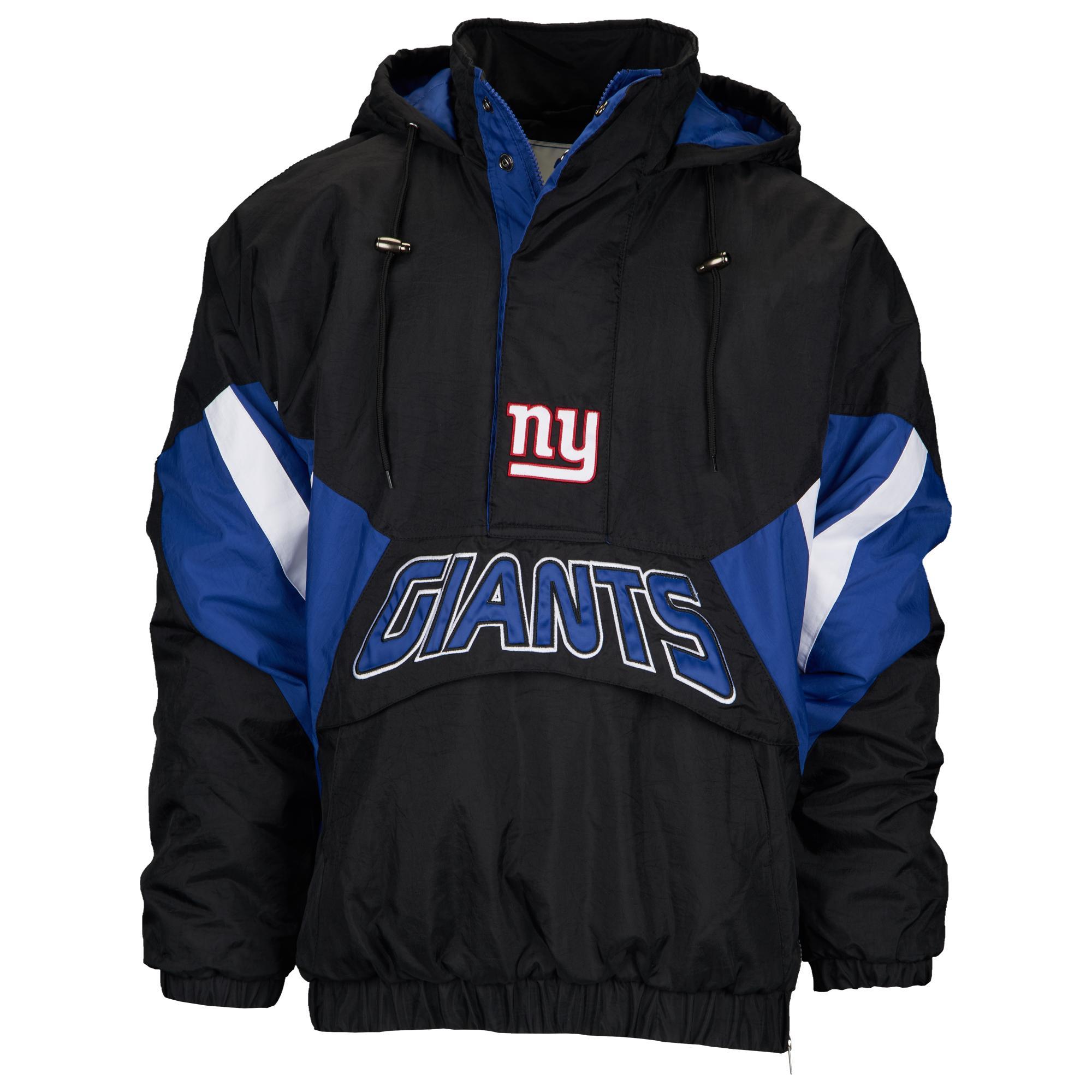 efe8f88b Starter New York Giants Nfl 1/2 Zip Hooded Pullover Jacket in Black ...