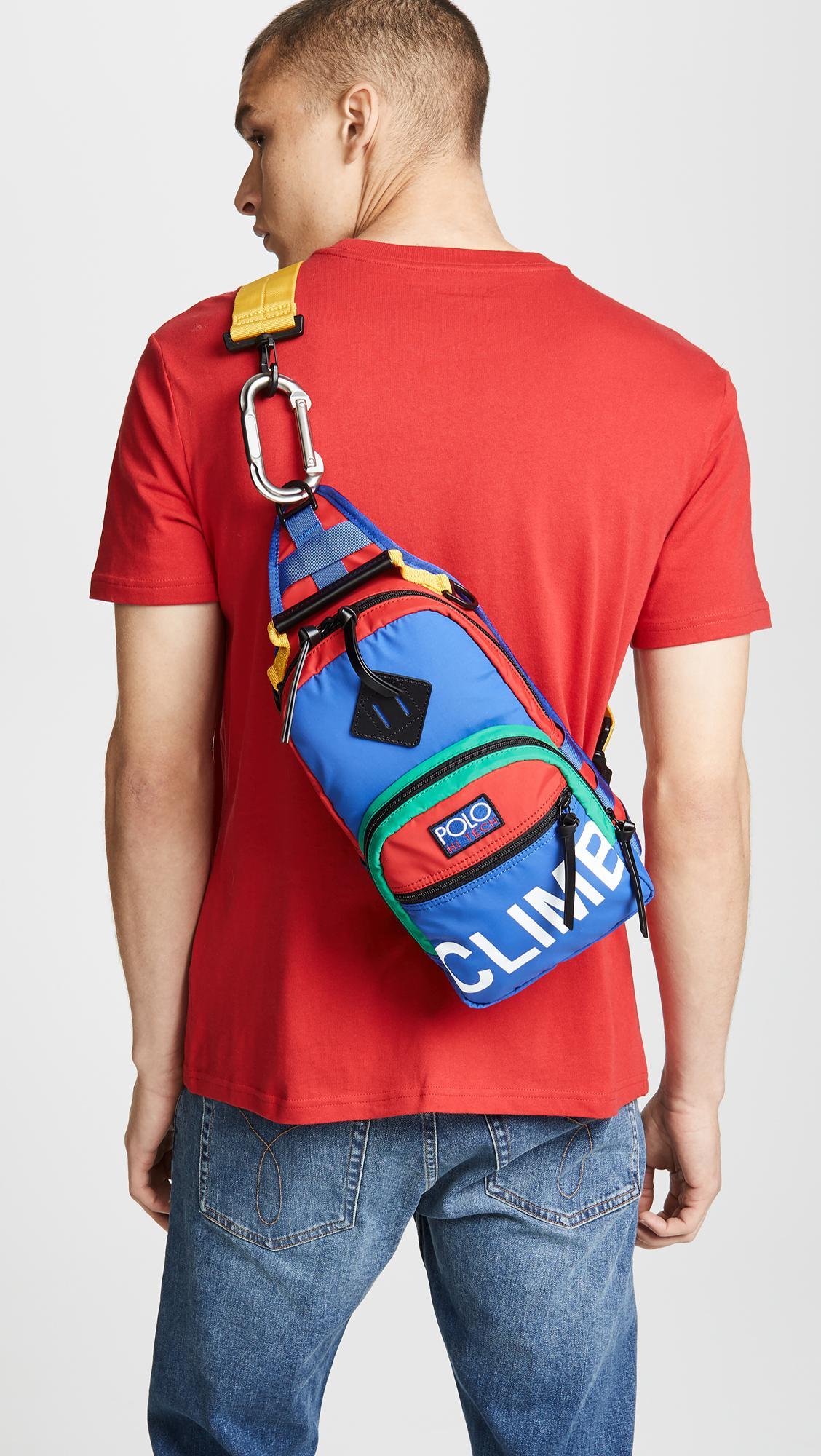 3e36b0fb7a99 Polo Ralph Lauren Hi Tech Sling Bag for Men - Lyst